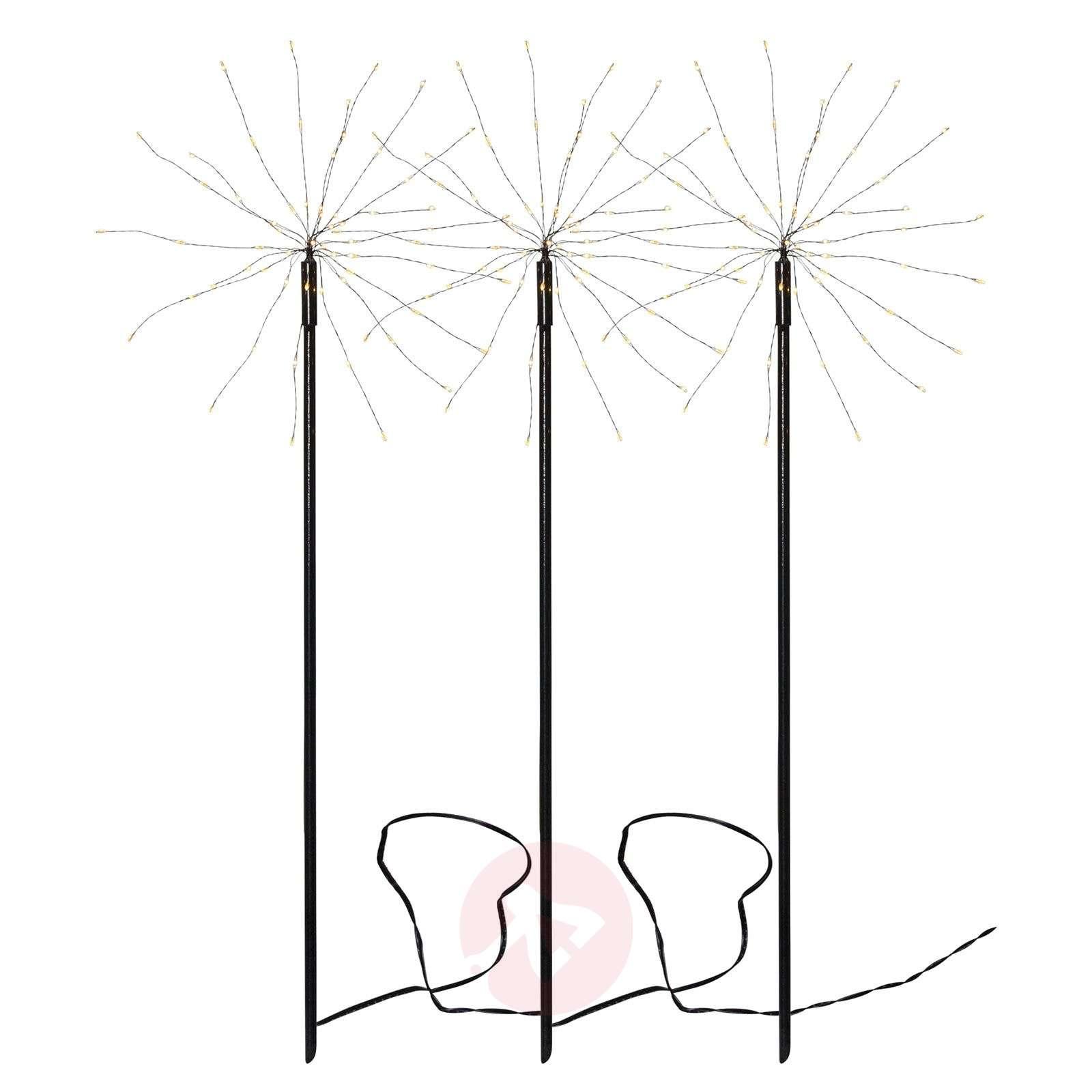 Seisova LED-tähti Firework Outdoor,3kpl,valk.-1523771-01