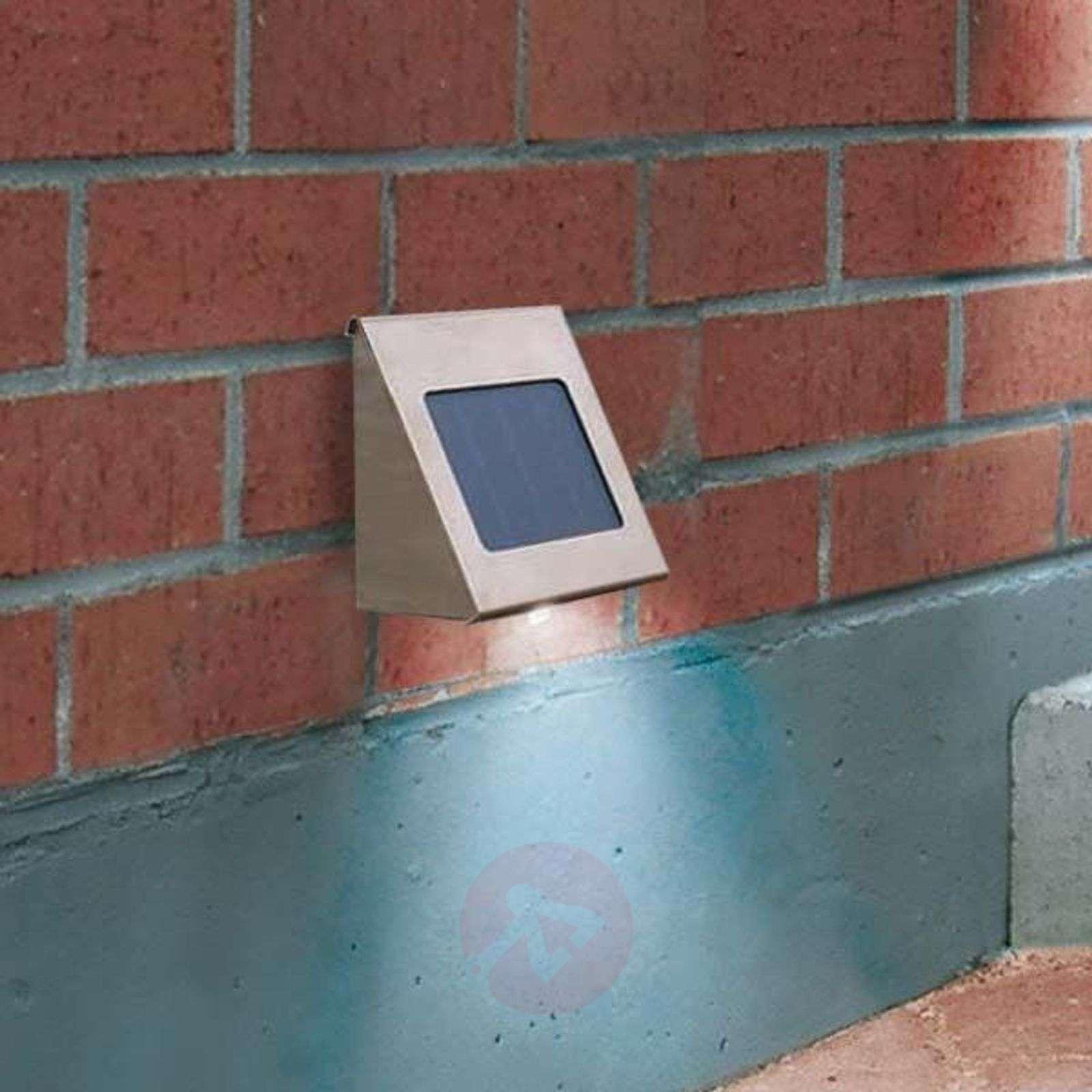 Shine-seinävalaisin aurinkokennolla teräs LED-3012023-01