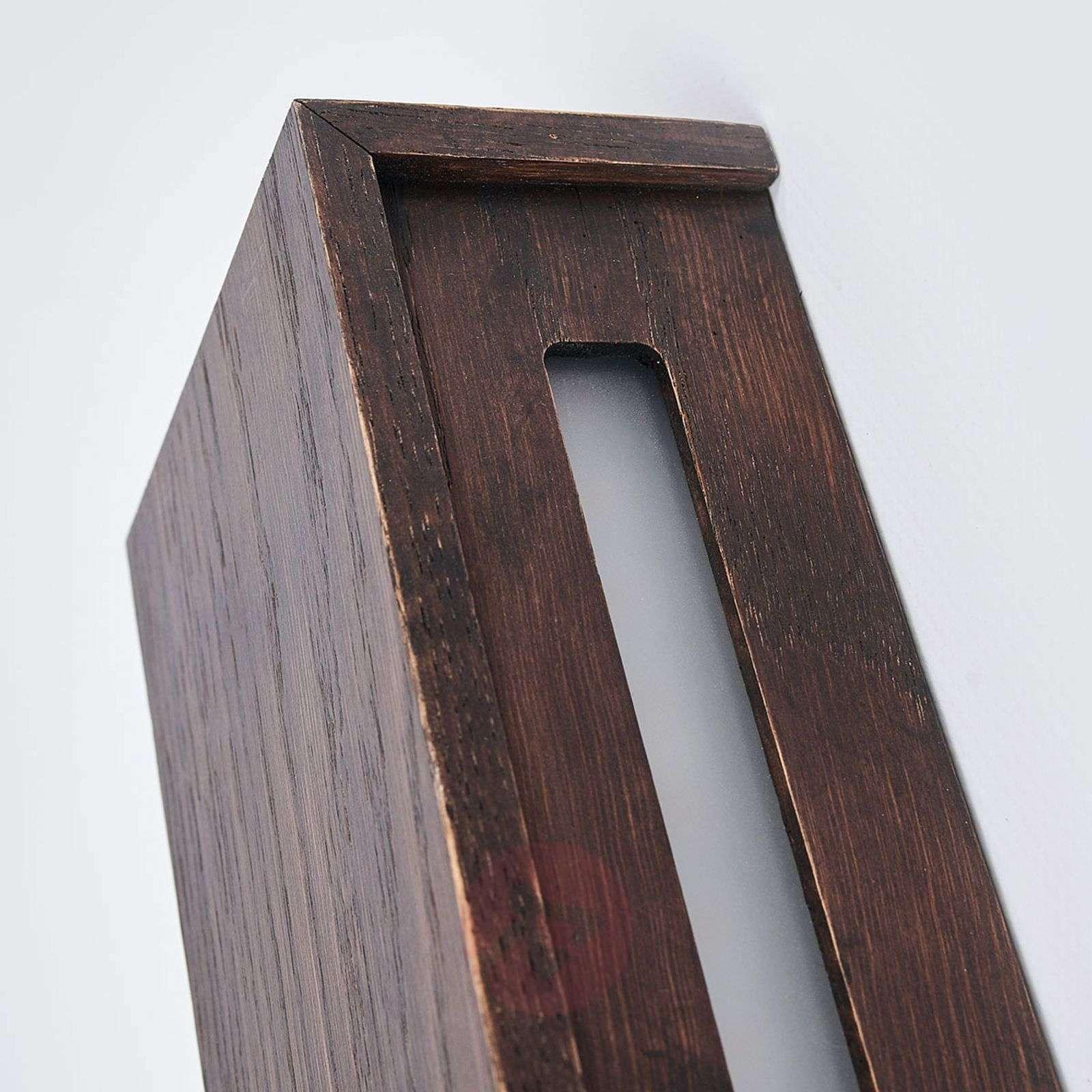 Siirtomaatammea – puinen LED-seinävalaisin Mila-6722479X-011