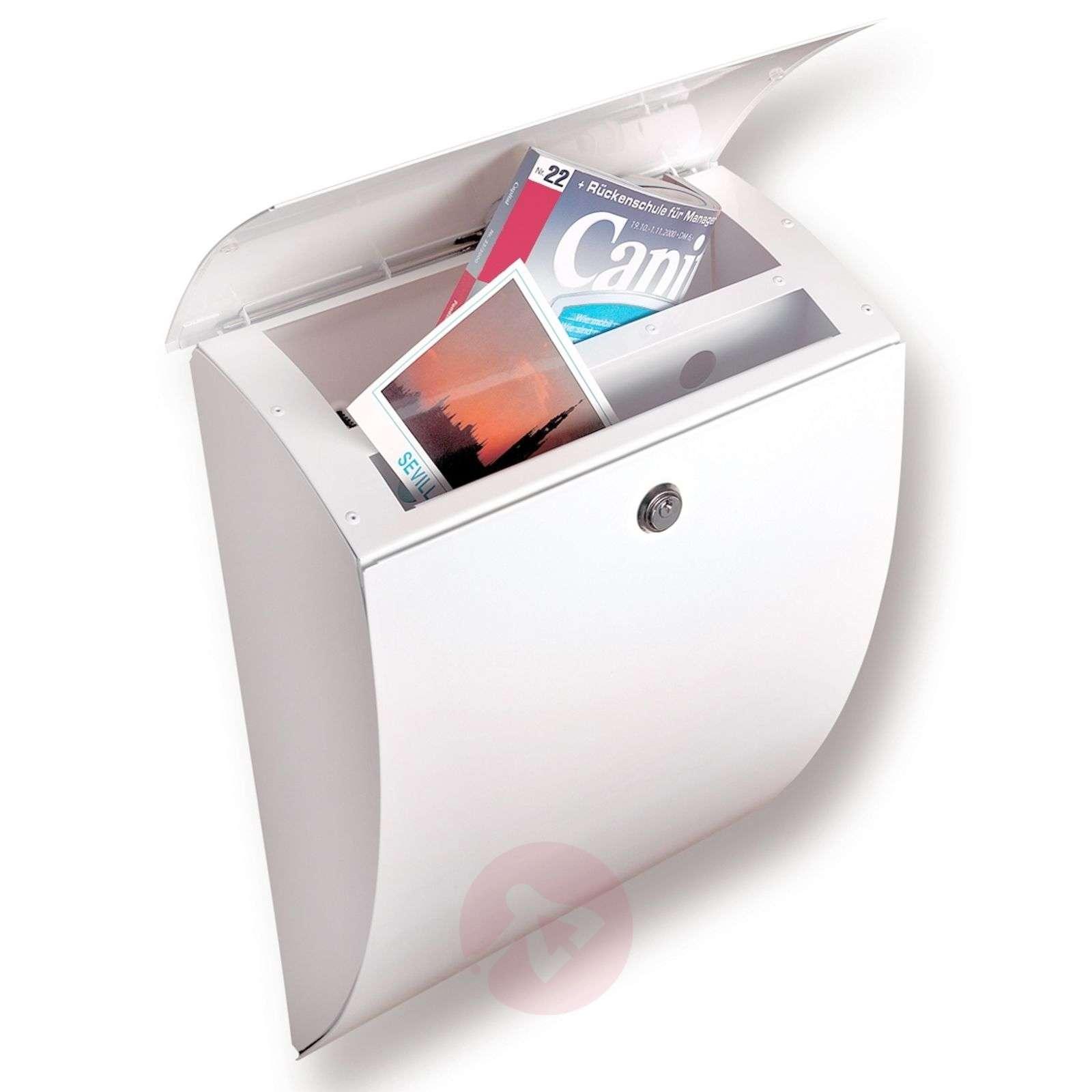 Sinkitty Milano-teräspostilaatikko, valkoinen-1532058-01