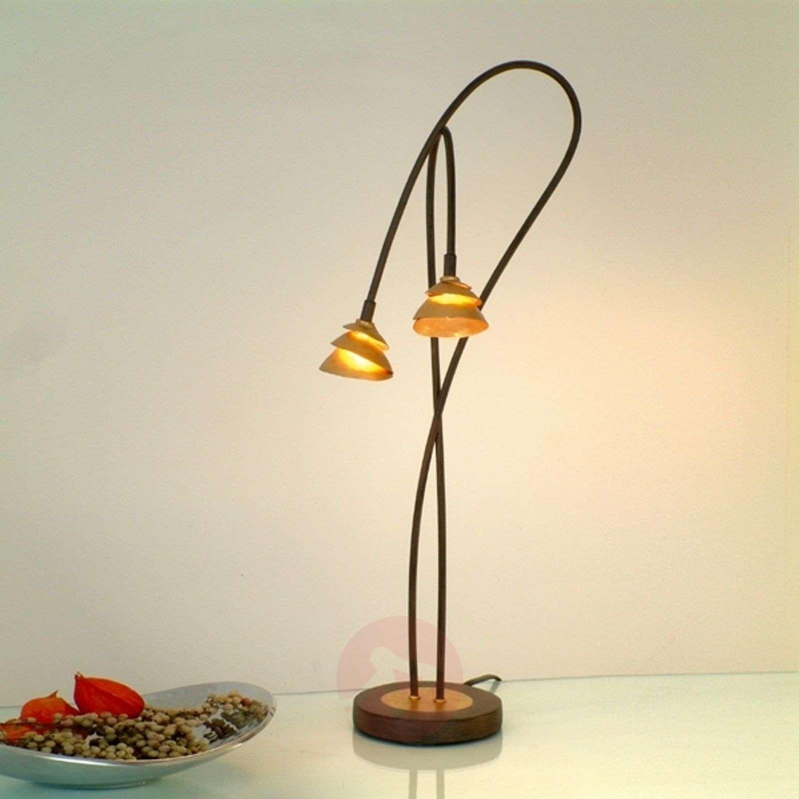 Siro LED-pöytävalaisin Fontaine – kaksilamppuinen