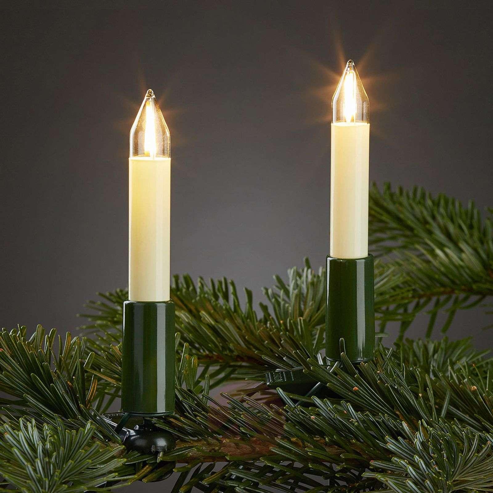 Sisävaloketju LED-filamenttikynttilöillä 20lampp.-4523510-01