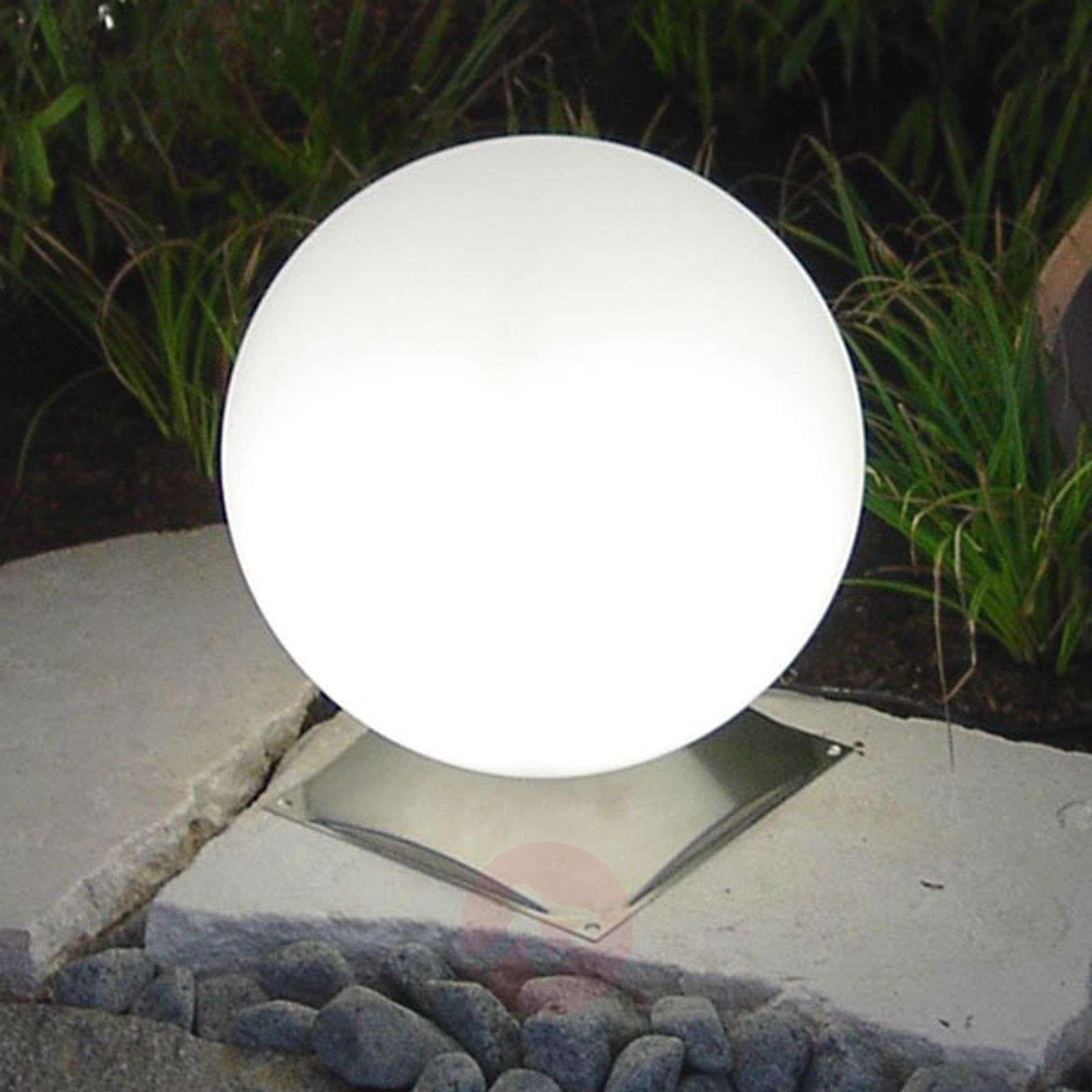 Snowball-pallovalaisin valkoinen teräsjalalla-3050035X-01