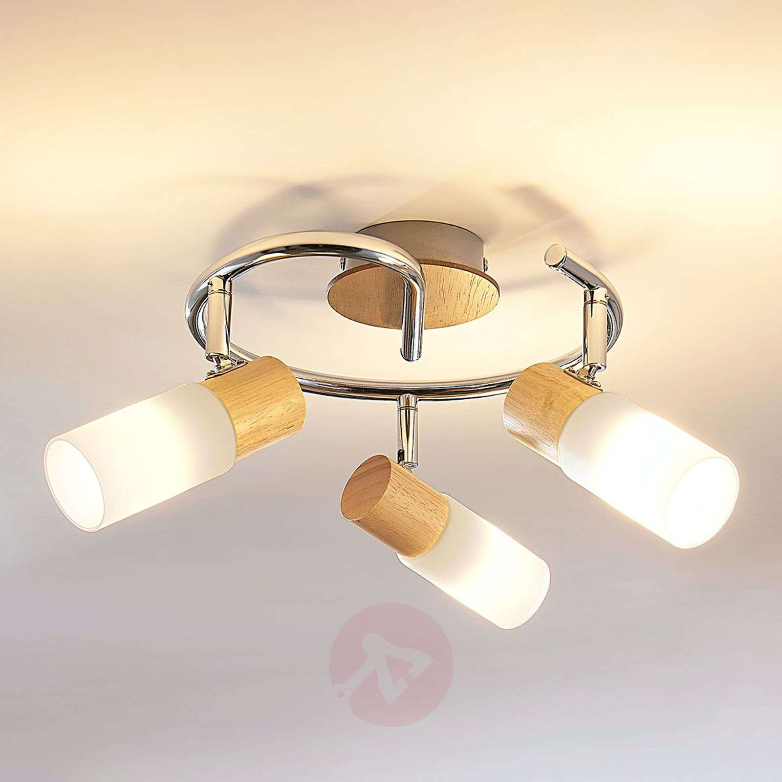 Spottiplafondi Christoph, puuta, E14 LED-9621826-012
