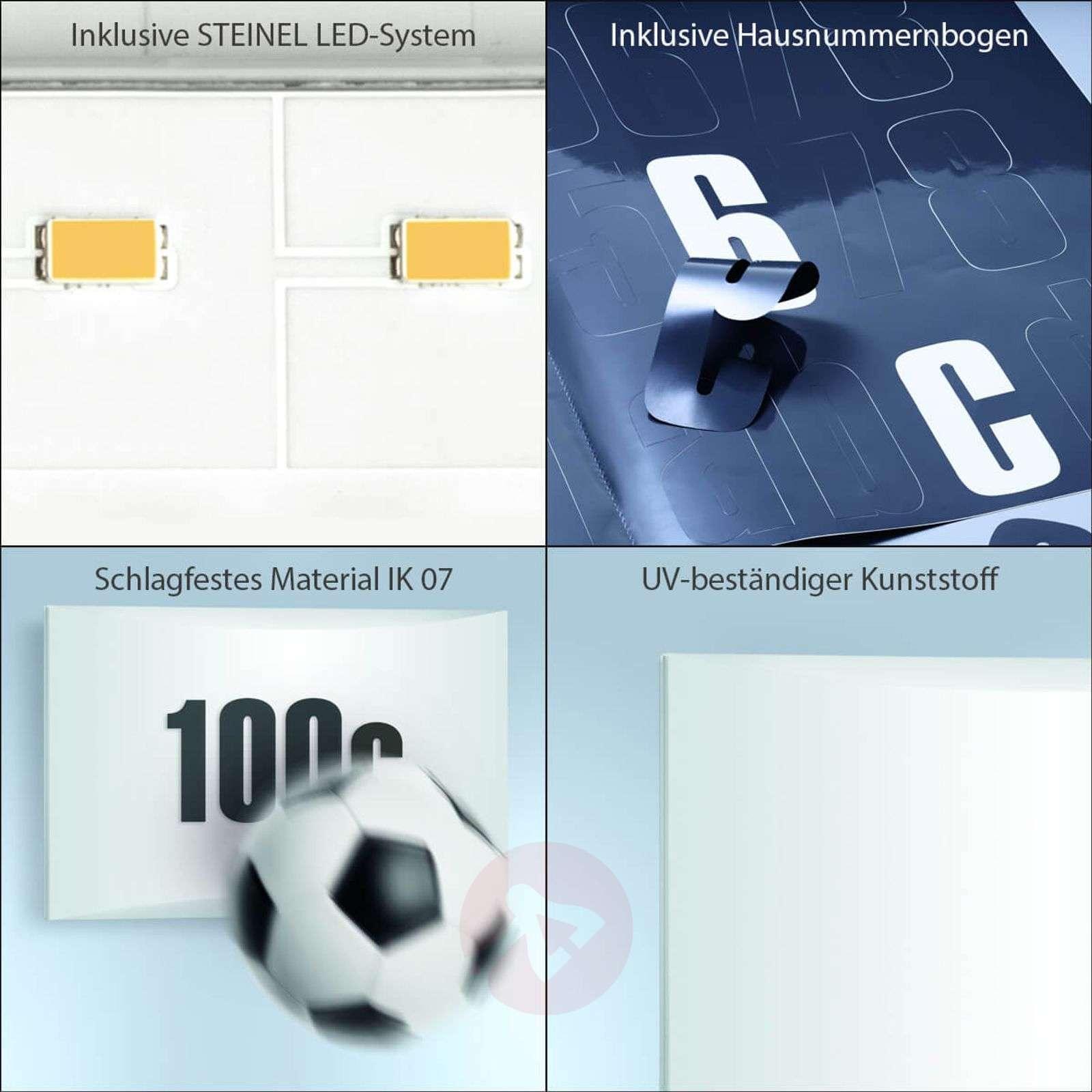 STEINEL LN1 LED talonnumerovalaisin ulkoseinä IP54-8505664-01