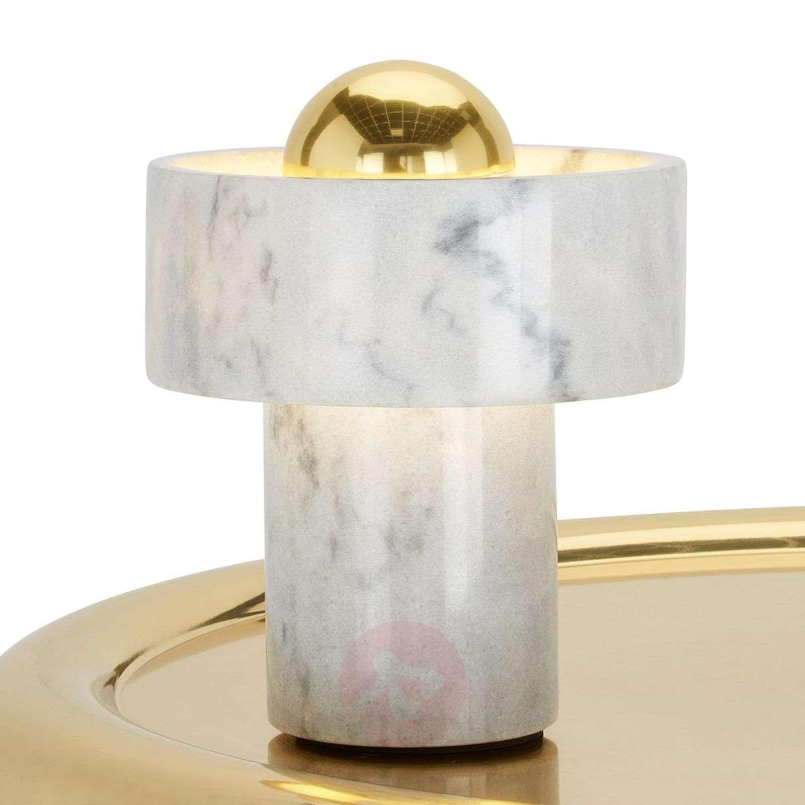 Stone Table-pöytävalaisin valkoista marmoria-9043053-01