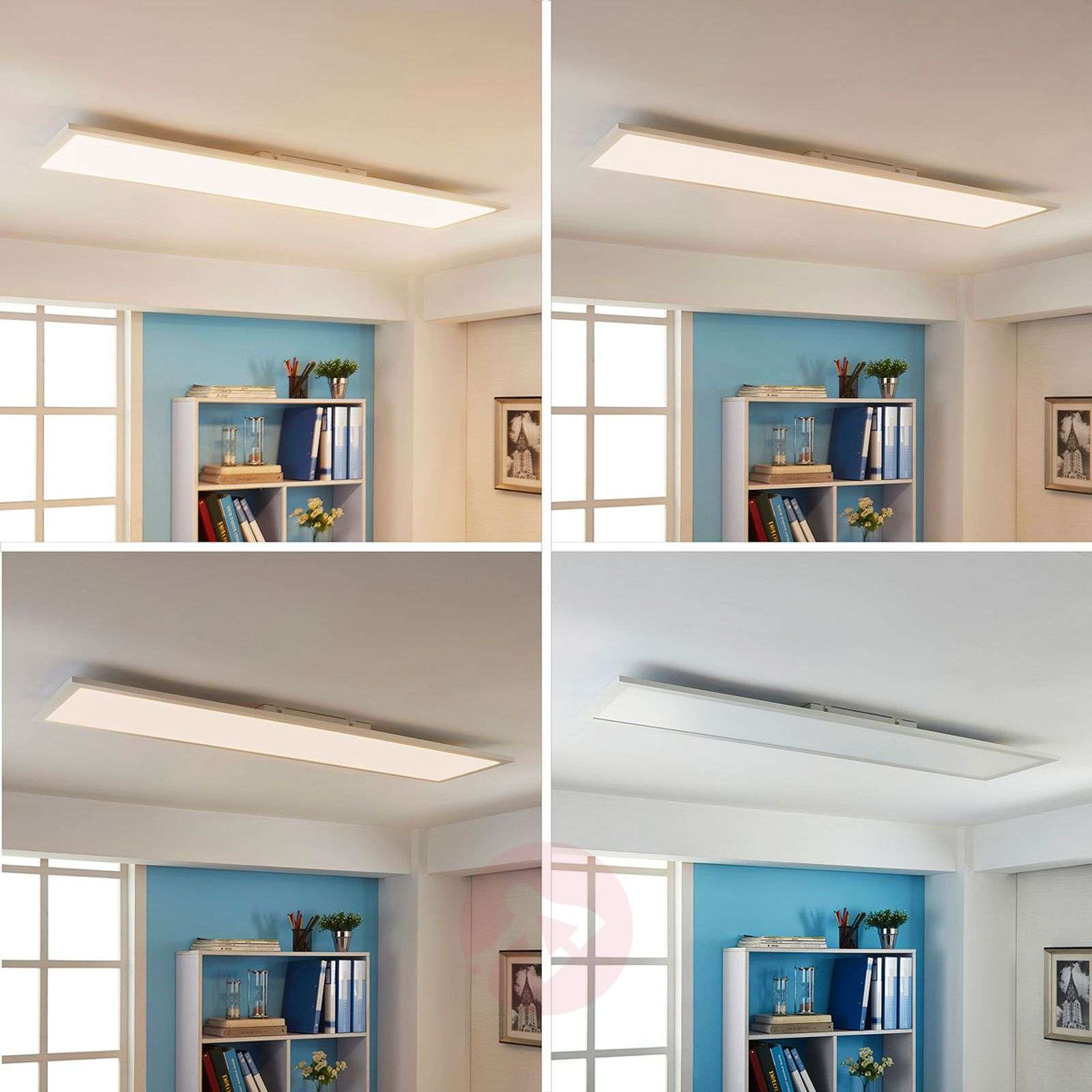 Suorakulma LED-paneeli Enja, 120 x 30 cm-9621533-011