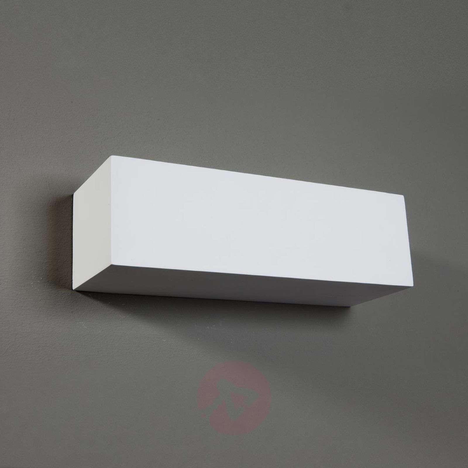 Suorakulmainen Lenny-seinävalaisin kipsistä-9613022-01