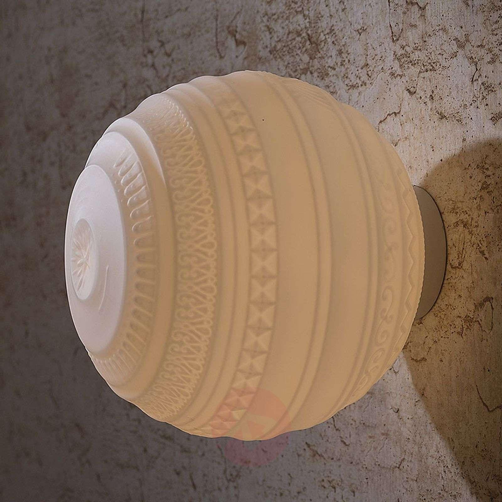 Suupuhallettu design-kattovalaisin Braille, 25cm-5542024-01