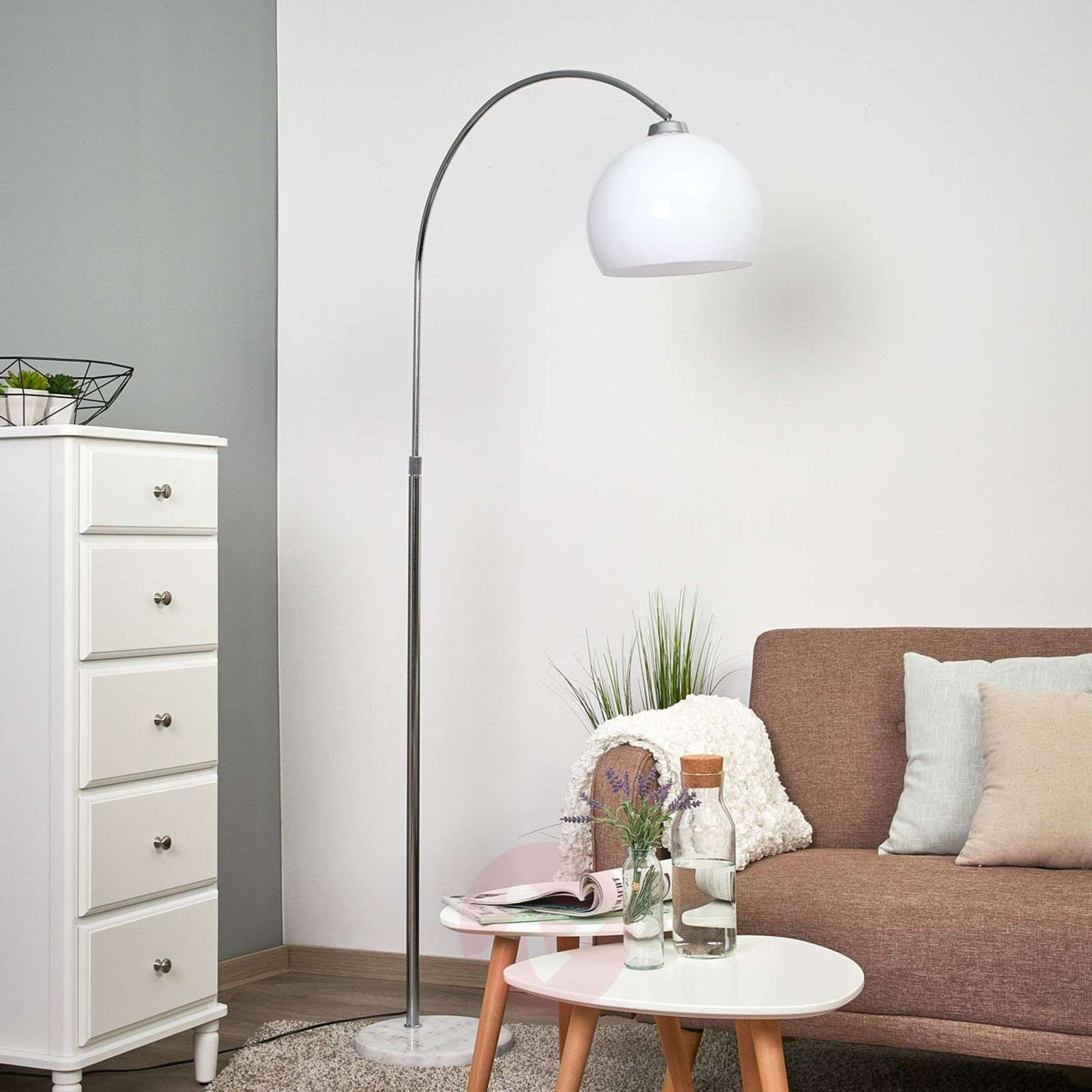 Sveri-kaarilamppu marmorijalka/valkoinen varjostin-9945219-01