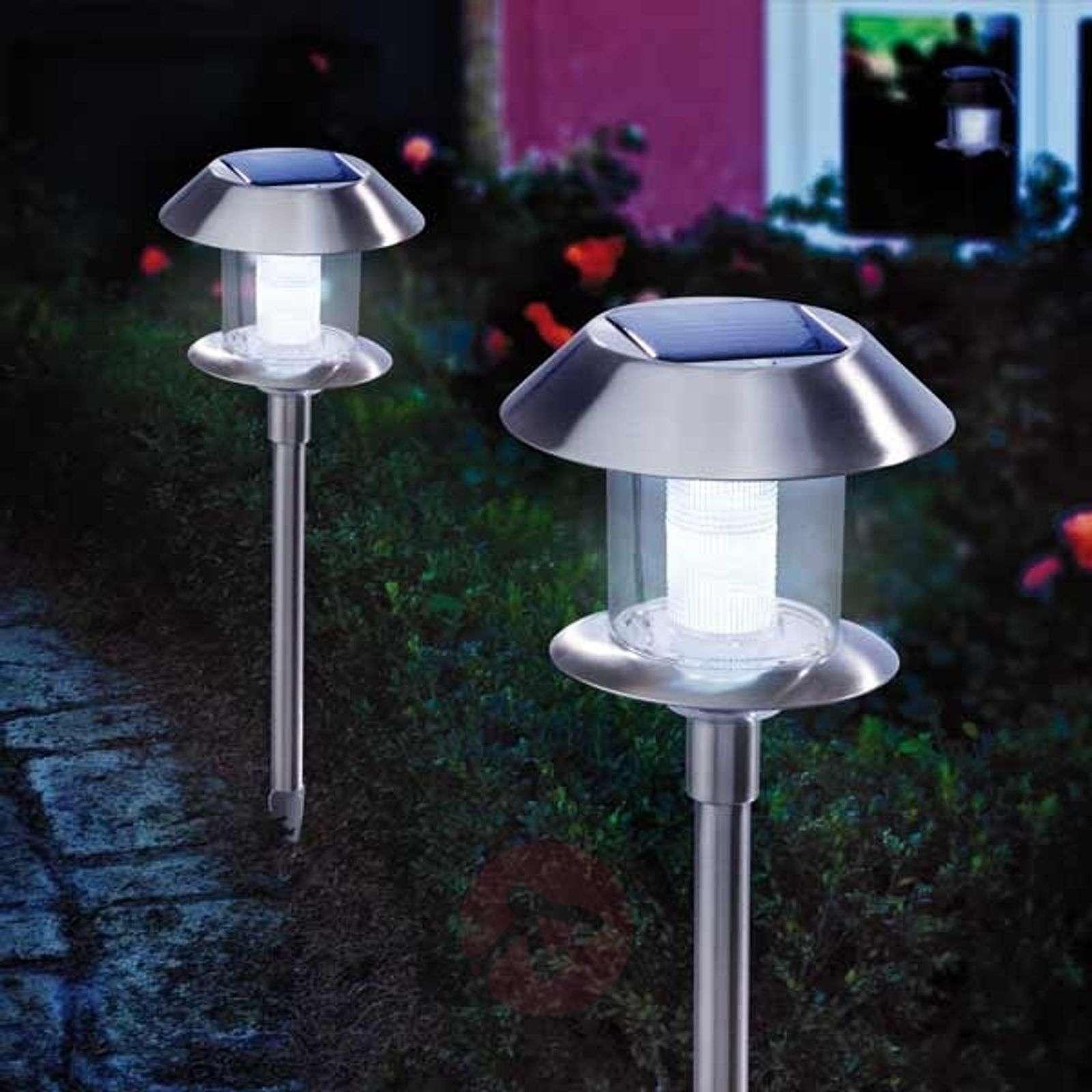 Swing Duo Solar LED-aurinkokennovalaisin terästä-3012004-01