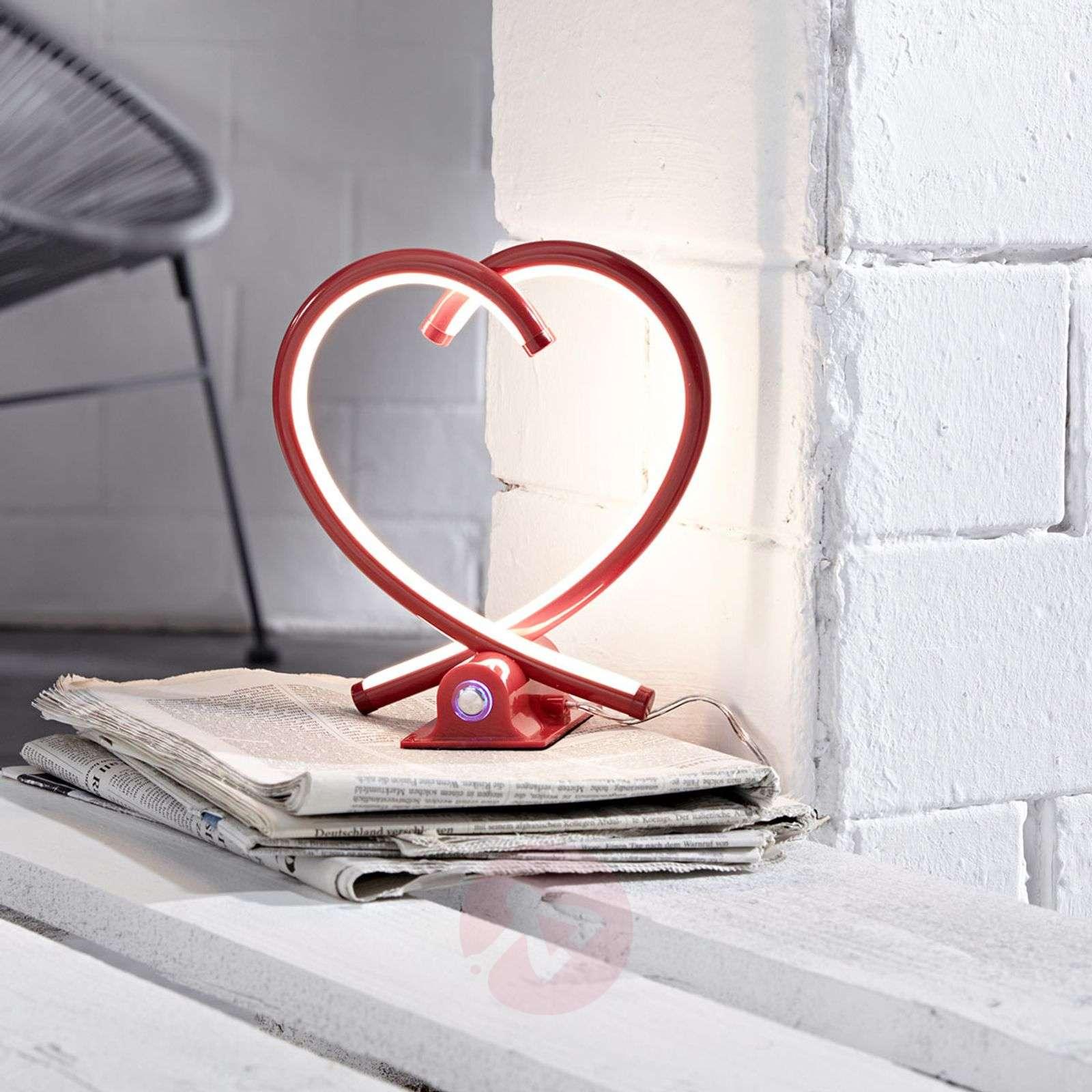 Sydämenmuotoinen LED-pöytälamppu Valentin-9950738-02