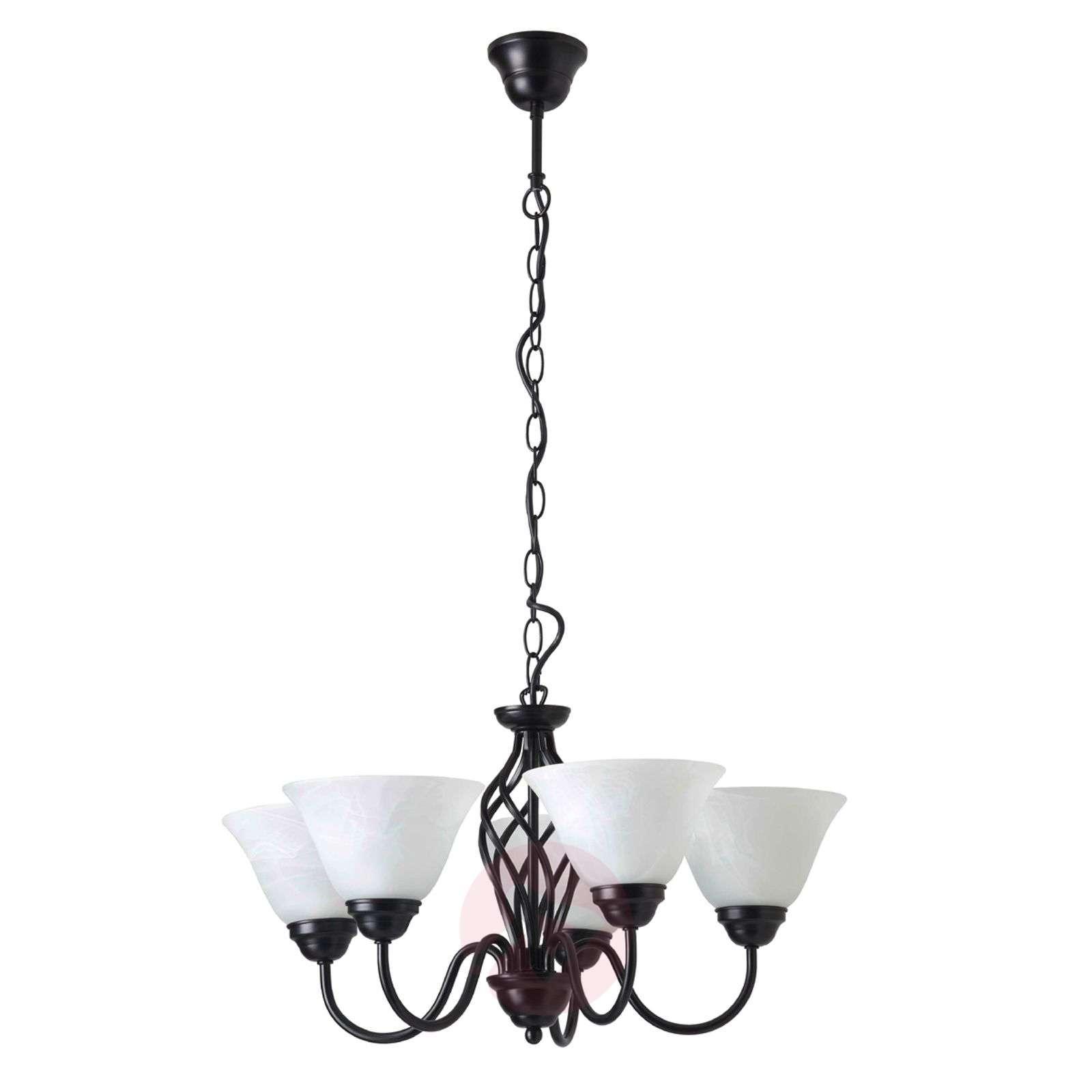 Taidolla taottu 5-lamppuinen ELENA-riippuvalaisin-1508613-01