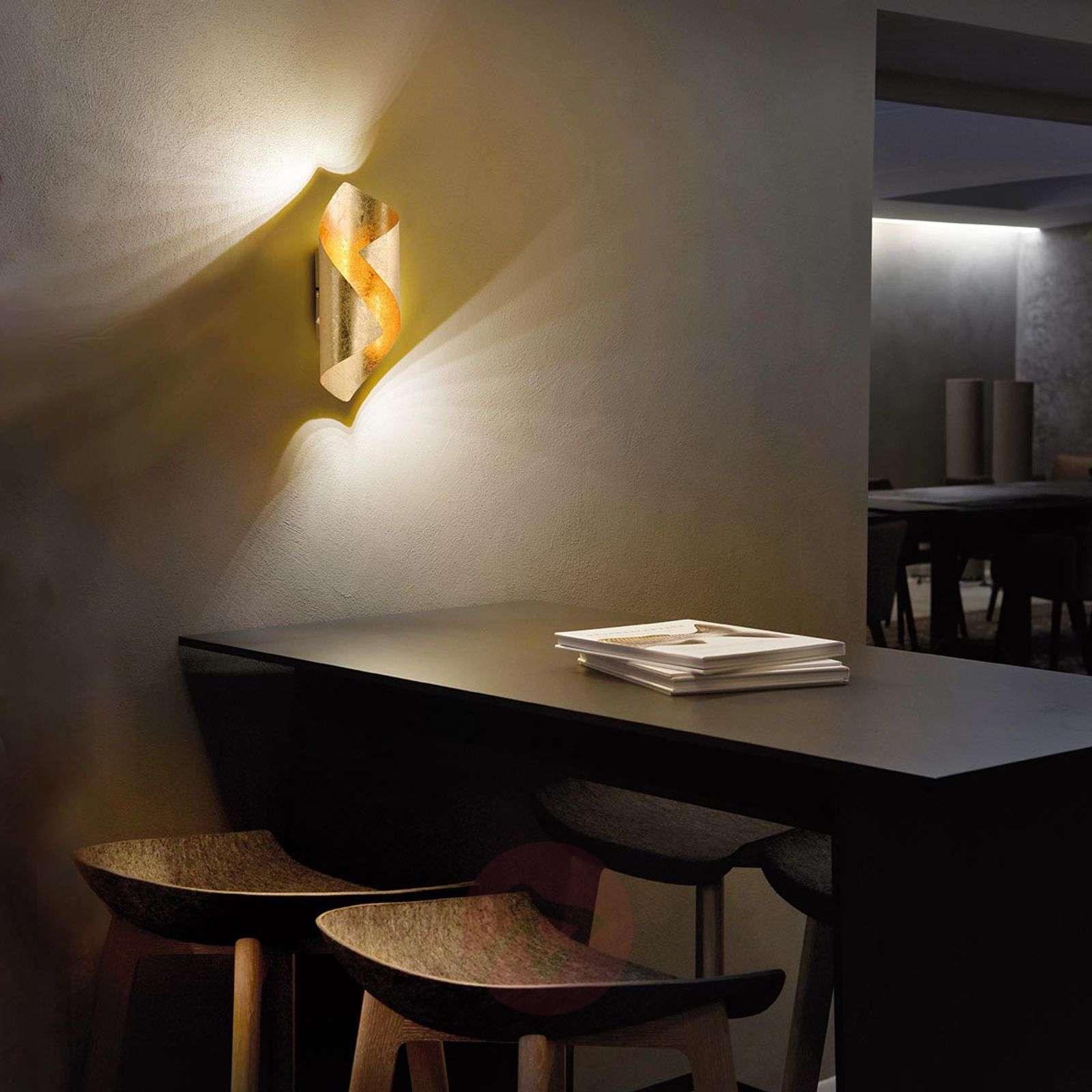 Taivutettu LED-seinävalaisin Nevis metallia-7610647-010