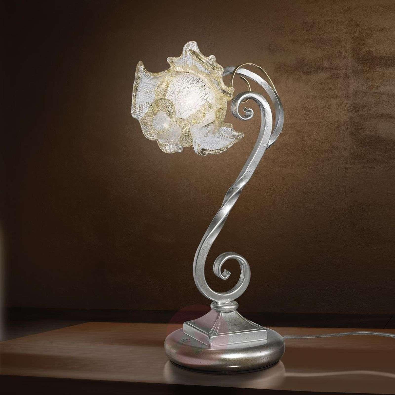 Takorautainen Rose-pöytävalaisin, muranolasi-1548070-01
