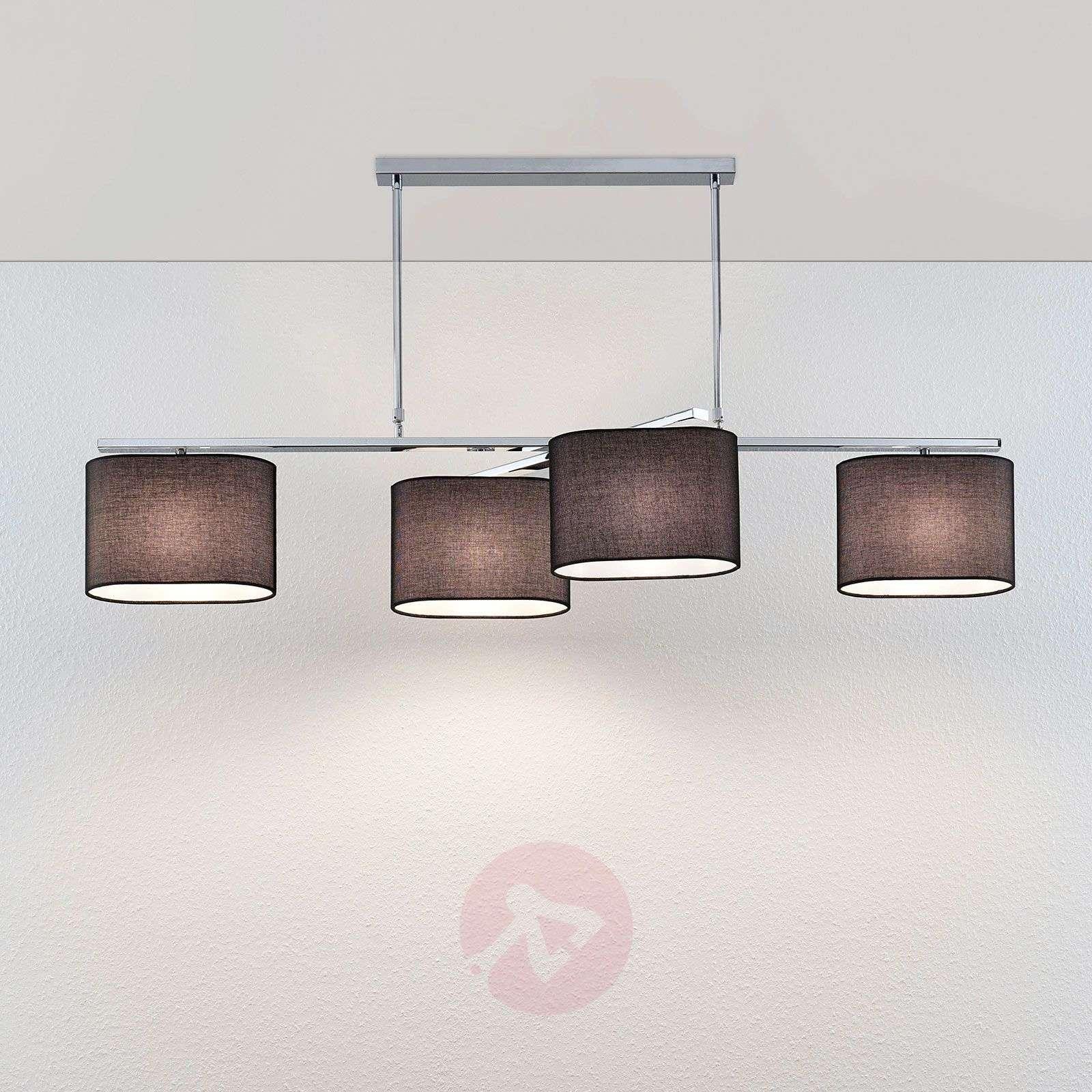 Tekstiiliriippuvalo Tomira, 4-lamppuinen musta-9976113-02