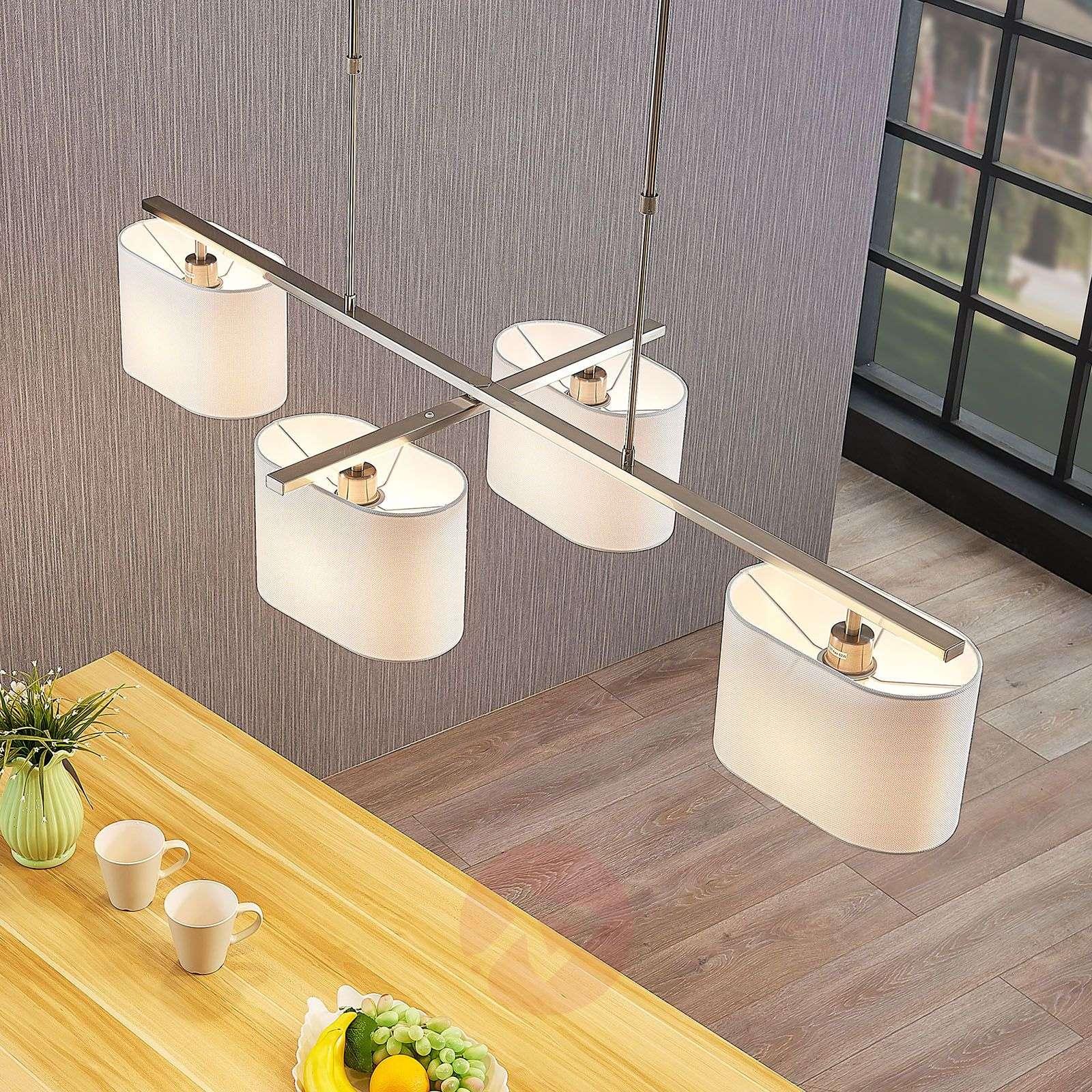Tekstiiliriippuvalo Tomira, 4-lamppuinen valkoinen-9976112-02