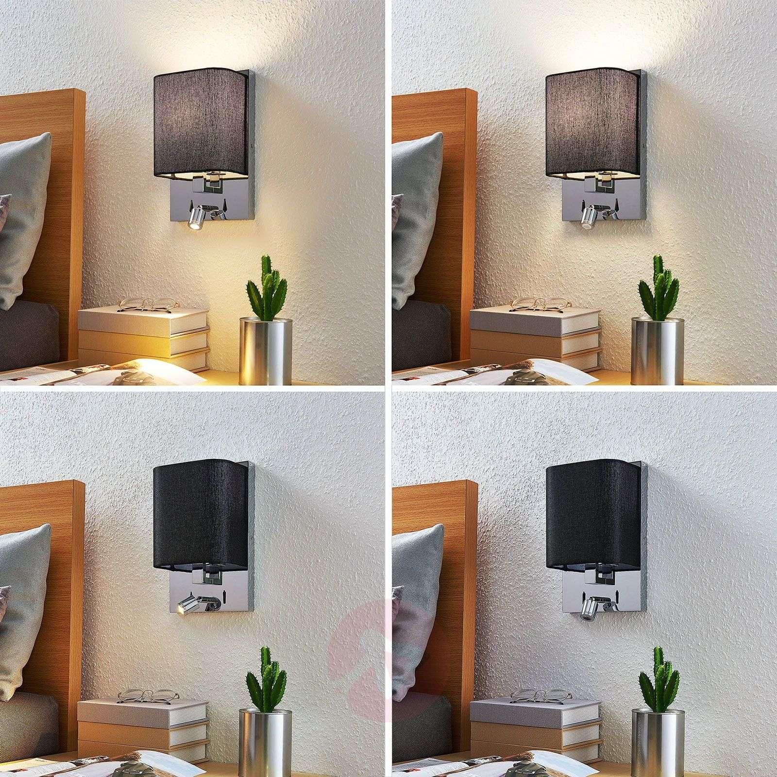 Tekstiiliseinävalaisin Eleanor, LED-lukulamppu-9976094-02