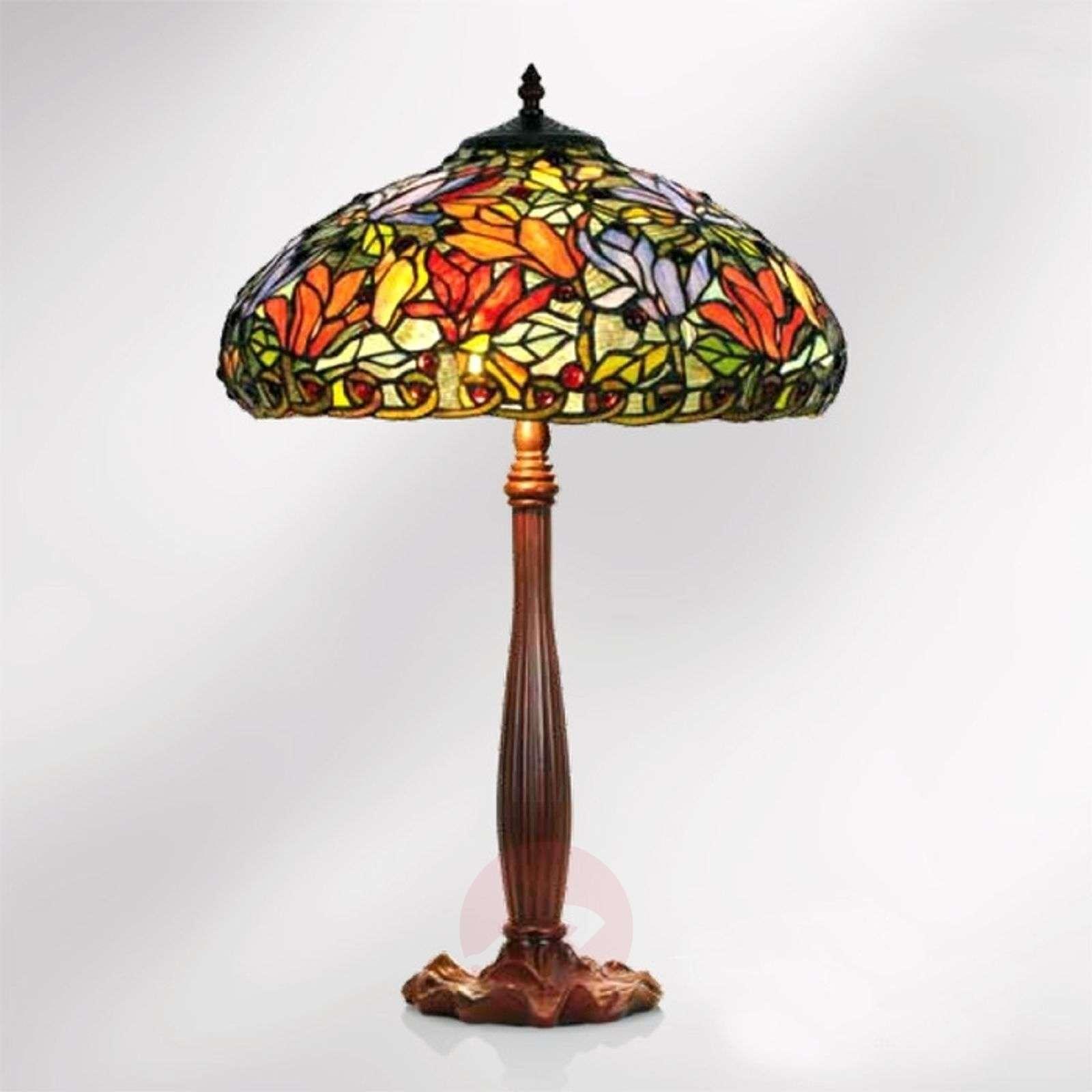Tiffany-tyylinen Elaine-pöytävalaisin, 64 cm-1032253-01