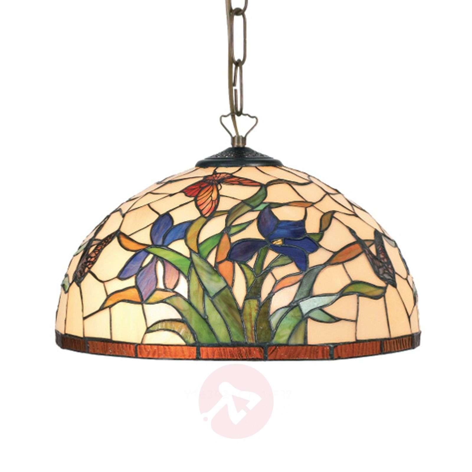 Tiffany-tyylinen Elanda-riippuvalaisin, 1-lamp.-1032163-01