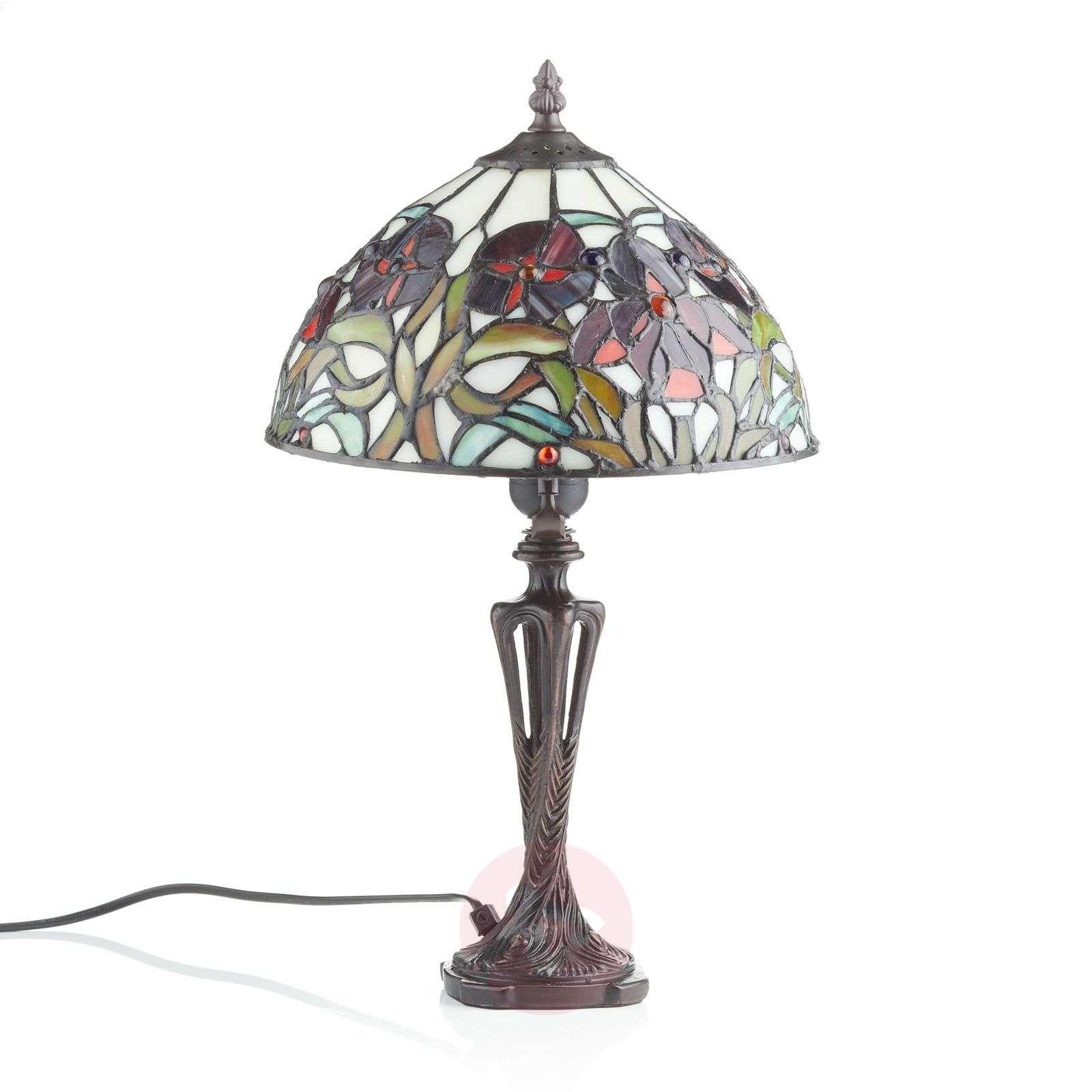 Tiffany-tyylinen ELINE-pöytävalaisin, 40 cm-1032169-01