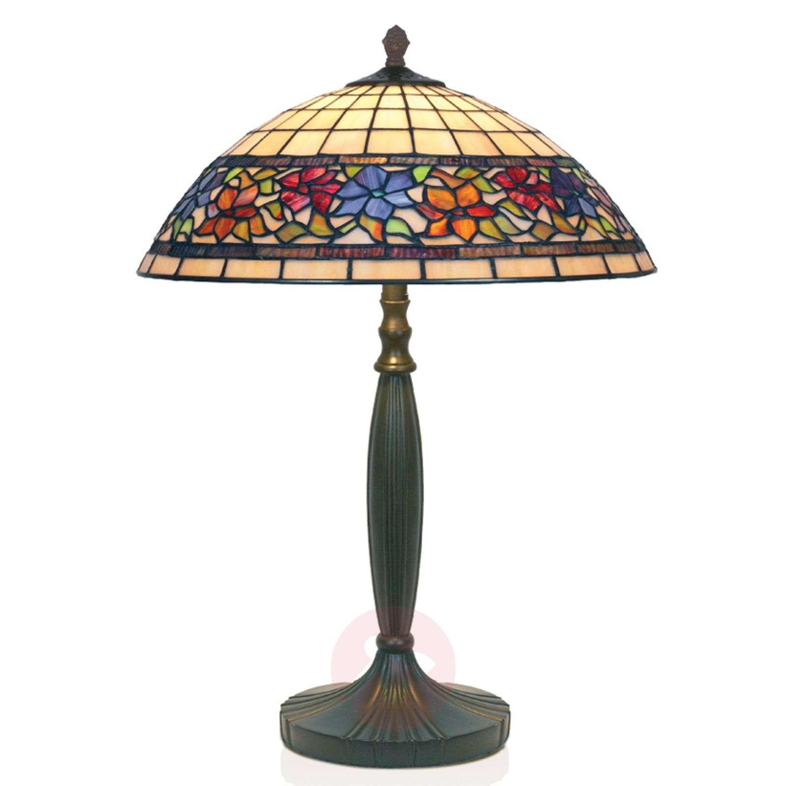 Tiffany-tyylinen, käsintehty FLORA-pöytävalaisin-1032128-01