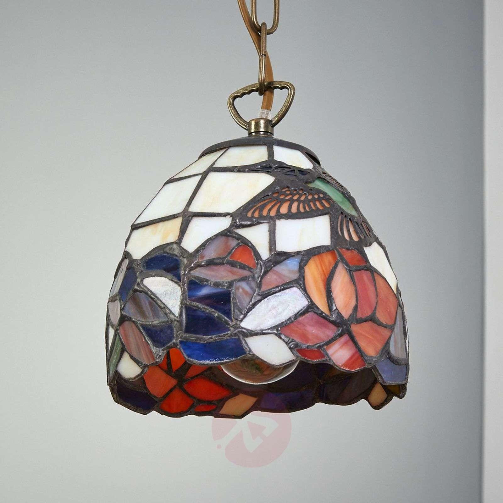 Tiffanytyylinen riippuvalaisin COLIBRI-1032064-01