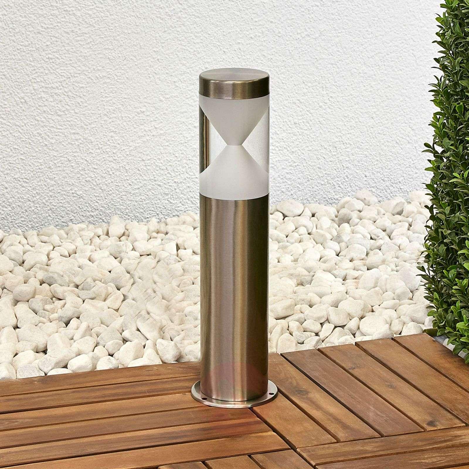 Tiimalasia muistuttava Fabrizio-LED-pollarilamppu-9988153-01