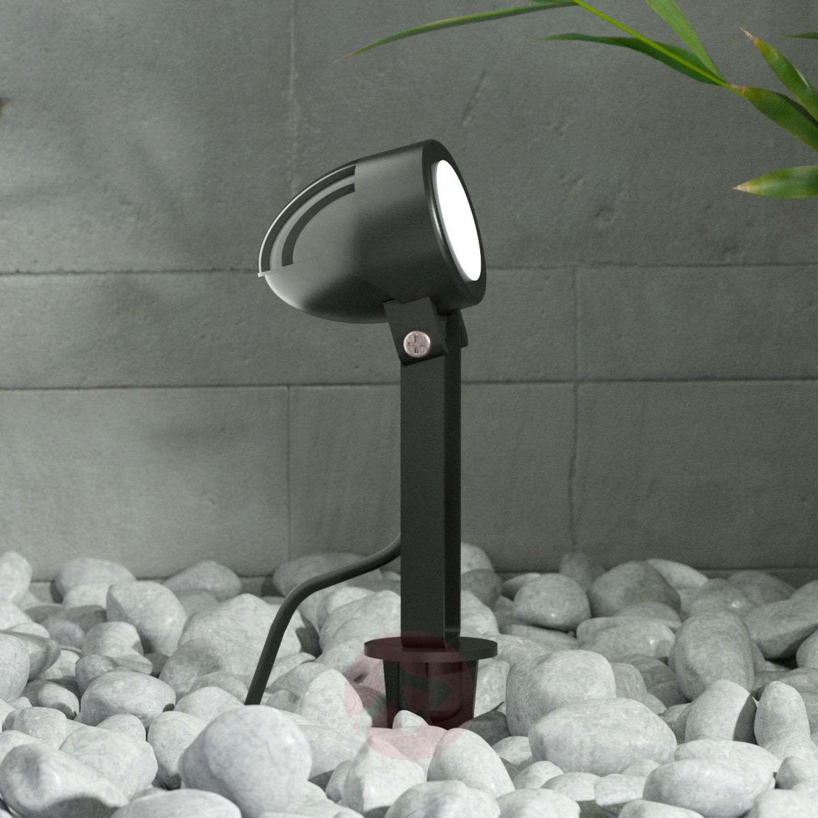 Timko-musta LED-maapiikkikohdevalaisin, IP65-9934012-02