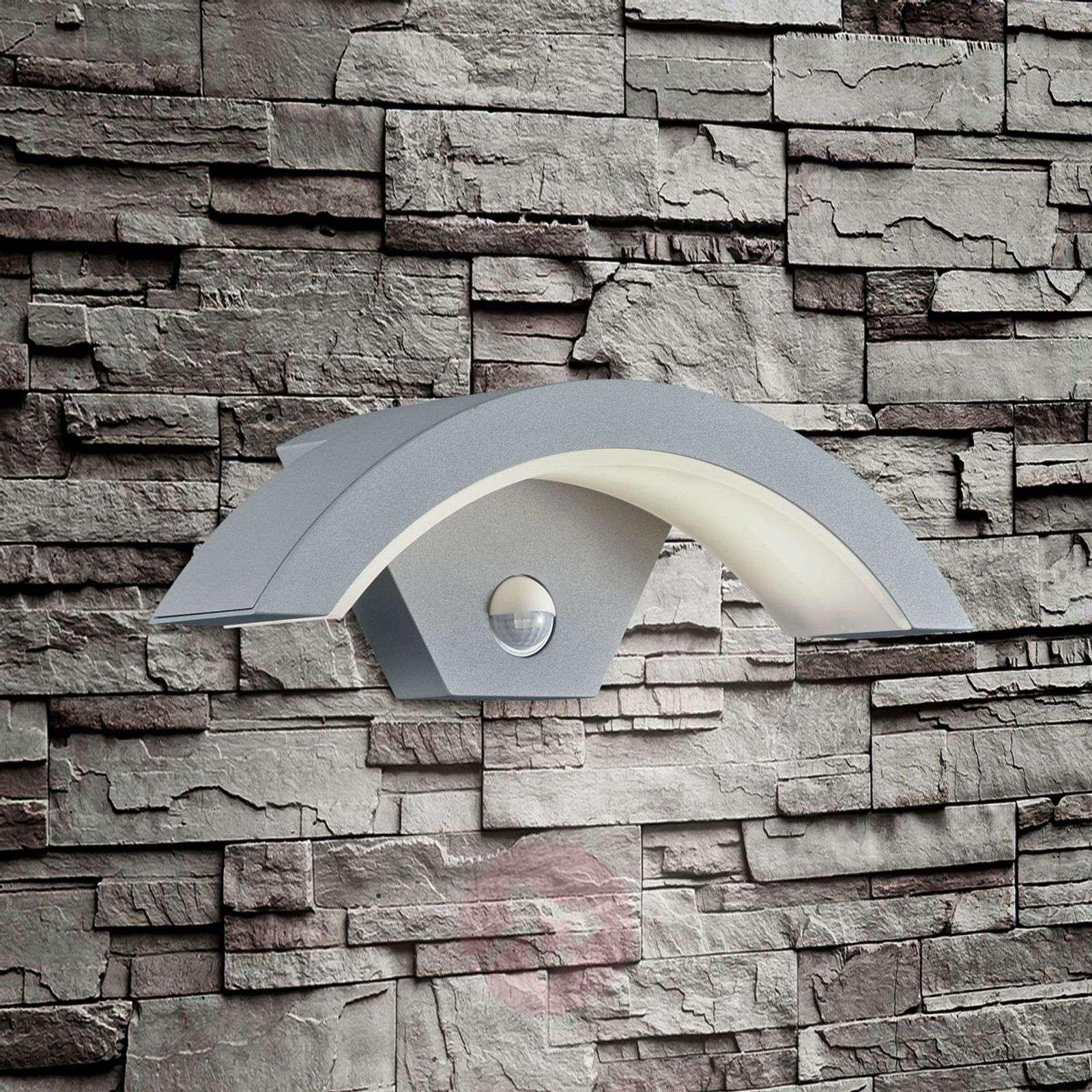 Titaaninväri LED-ulkoseinävalaisin Ohio, tunnistin-9004659-02