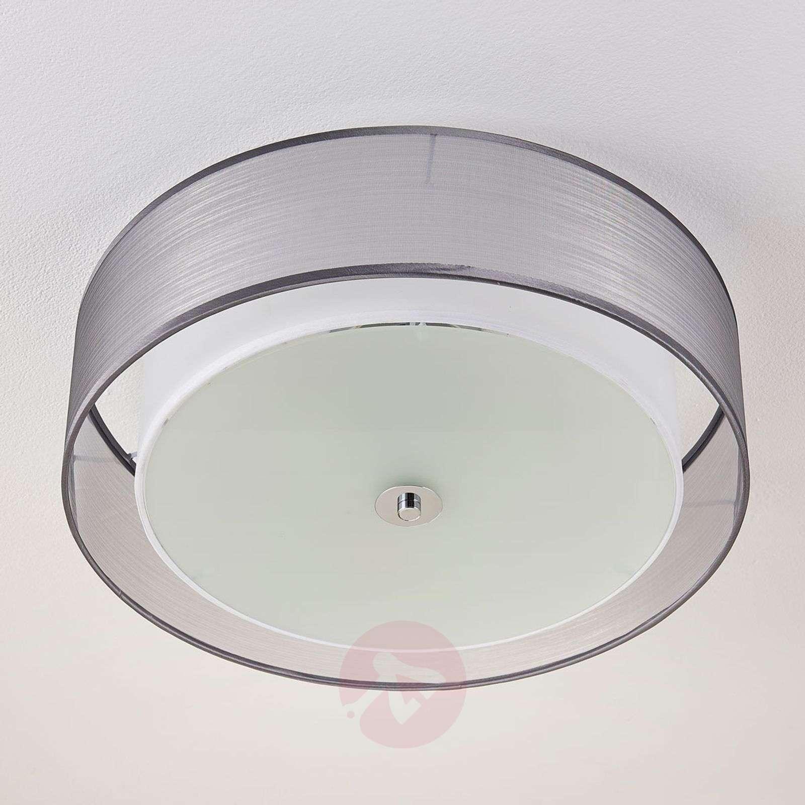 Tobia LED-kattolamppu, katkaisinhimmennys harmaa-9621293-02