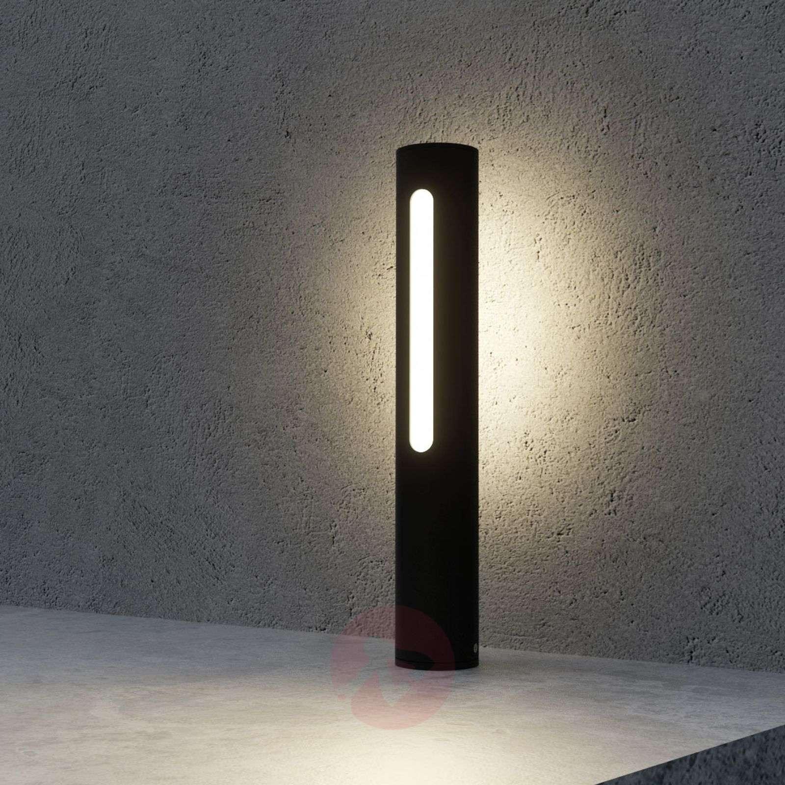Tomas tummanharmaa LED-pollarivalaisin-9618126-02