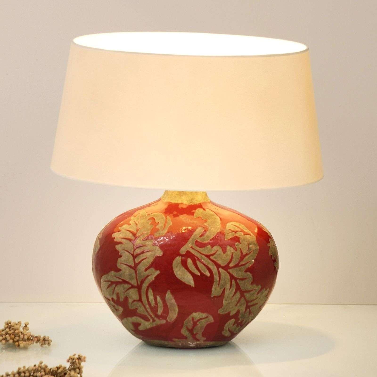 Toulouse-pöytävalaisin ovaali, 43 cm, punainen-4512291-01