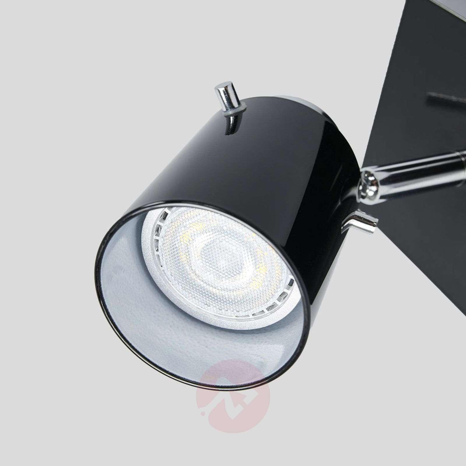 Trendikäs LED-spotti Frederik, musta lasi-9639088-01