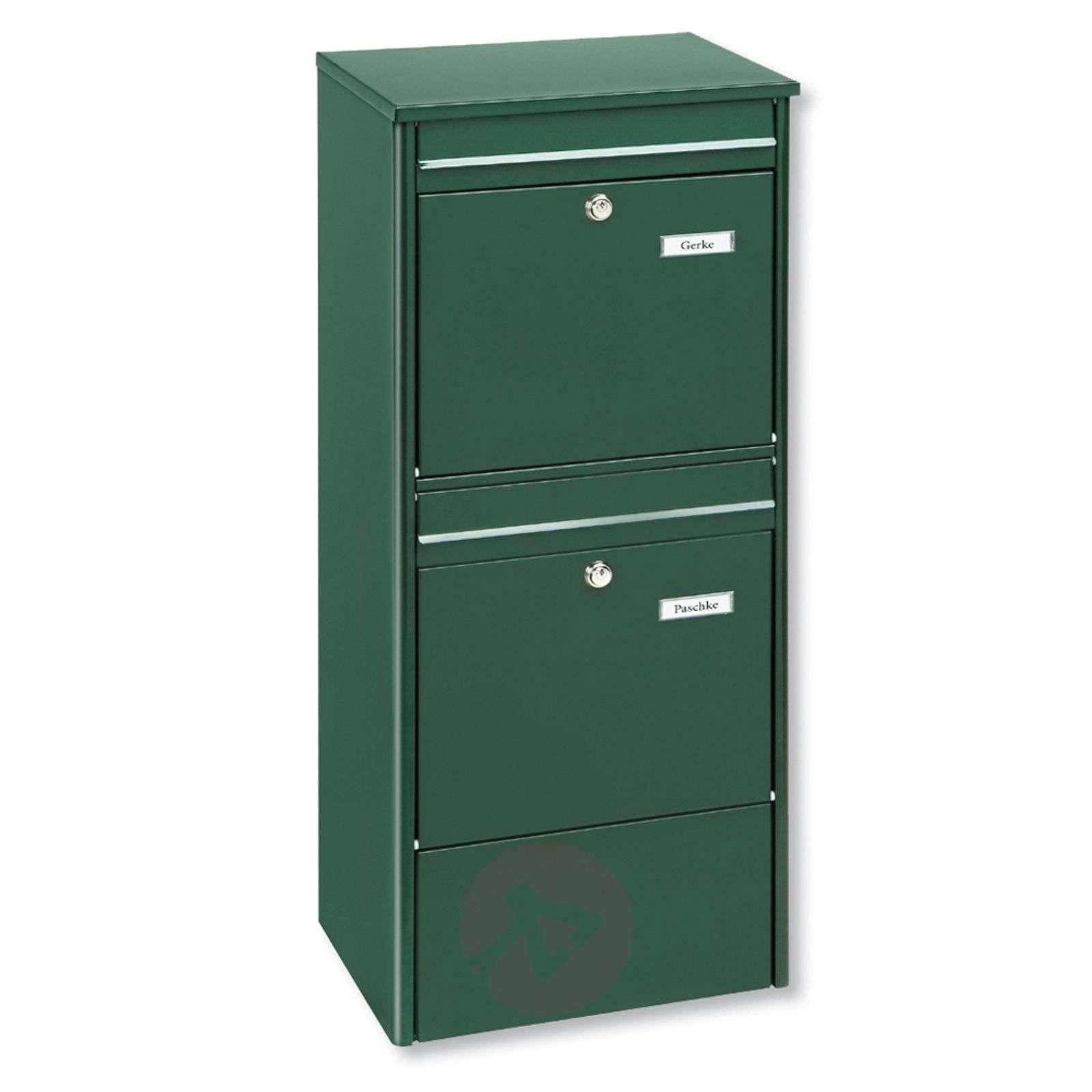 Tuetta seisova Jumbo-tuplapostilaatikko, vihreä-1532115-01