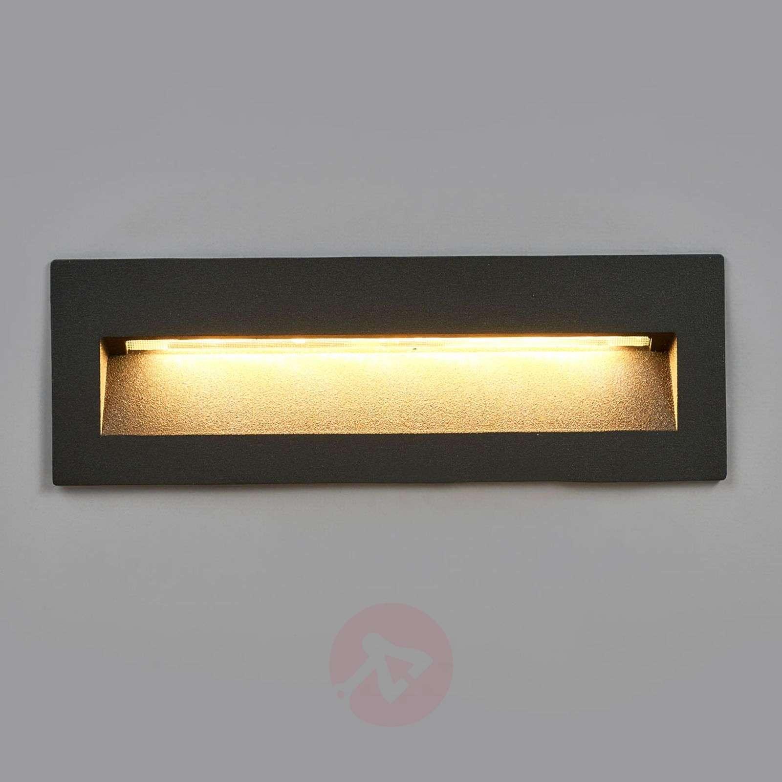 Tumma LED-uppovalaisin Loya, ulkoseinäasennus-9969039-02