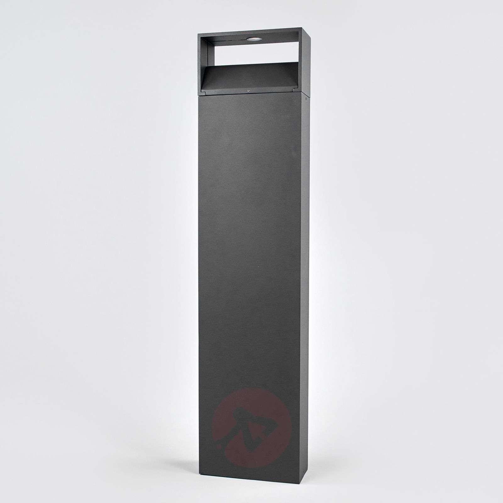Tummanharmaa Kjella LED-pollarivalaisin-9955009-02