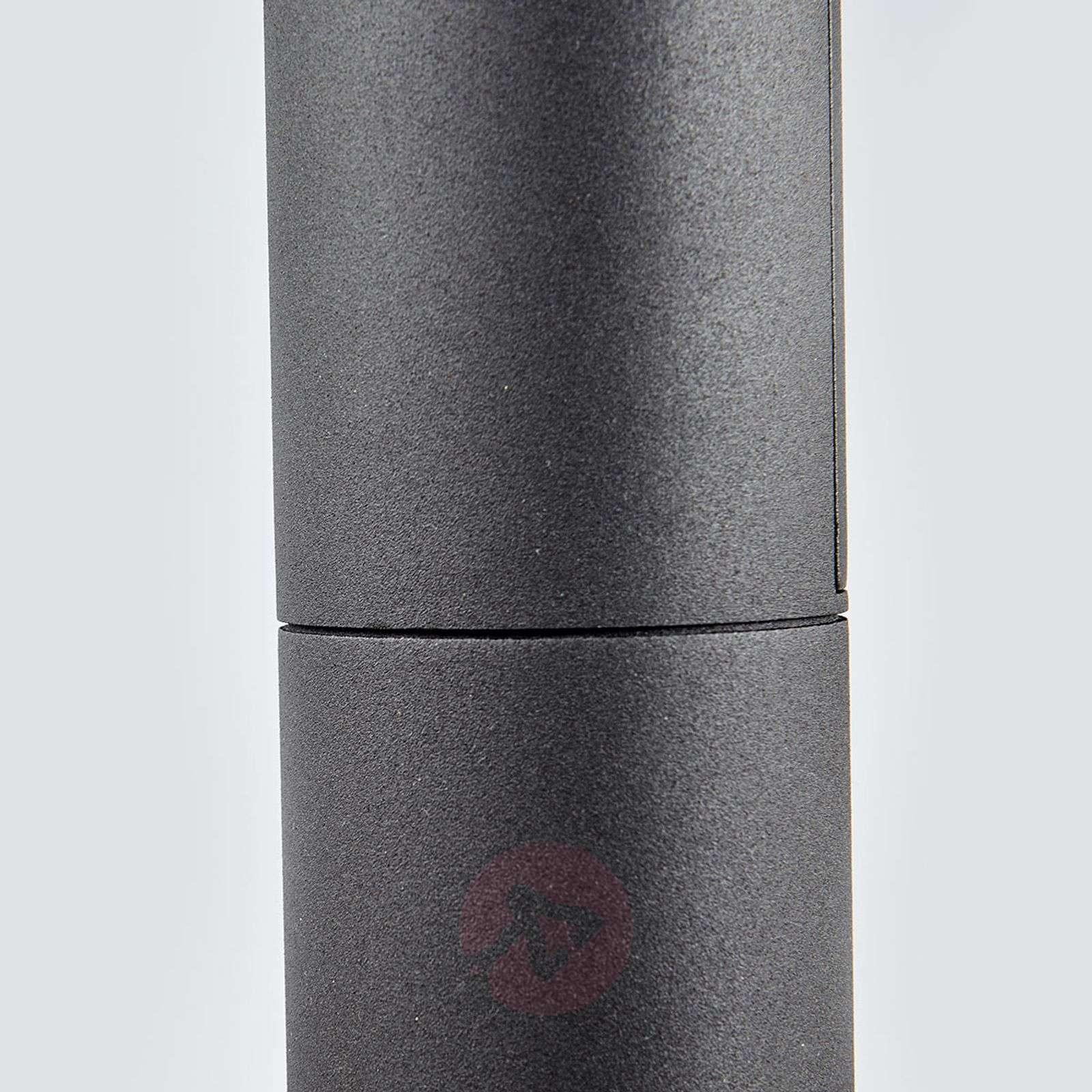 Tummanharmaa LED-pollarilamppu Olesia-9619138-02