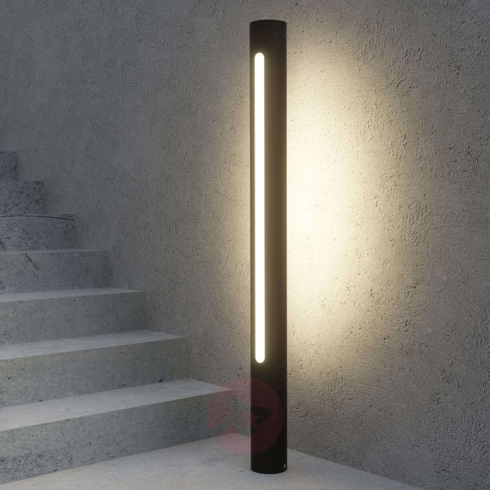 Tummanharmaa LED-pylväsvalo Tomas-9618127-02