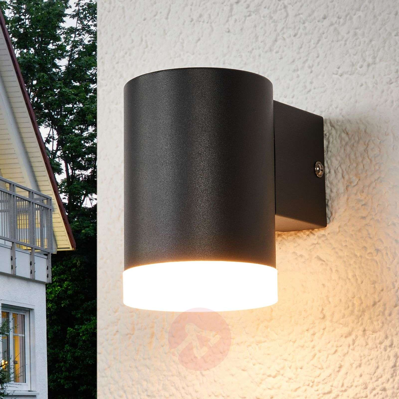 Tummanharmaa LED-seinävalaisin Morena ulkokäyttöön-9988112-02
