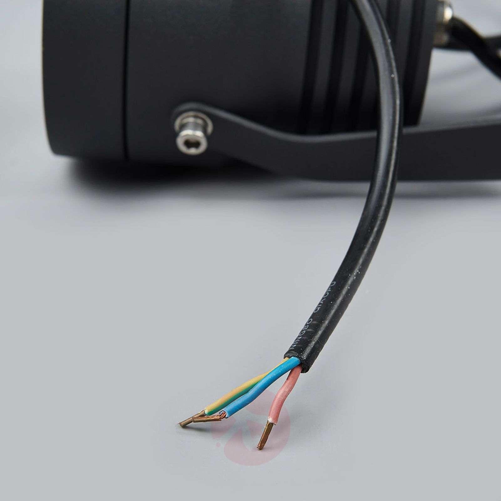 Tummanharmaa LED-ulkokohdevalaisin Irina-9969057-05