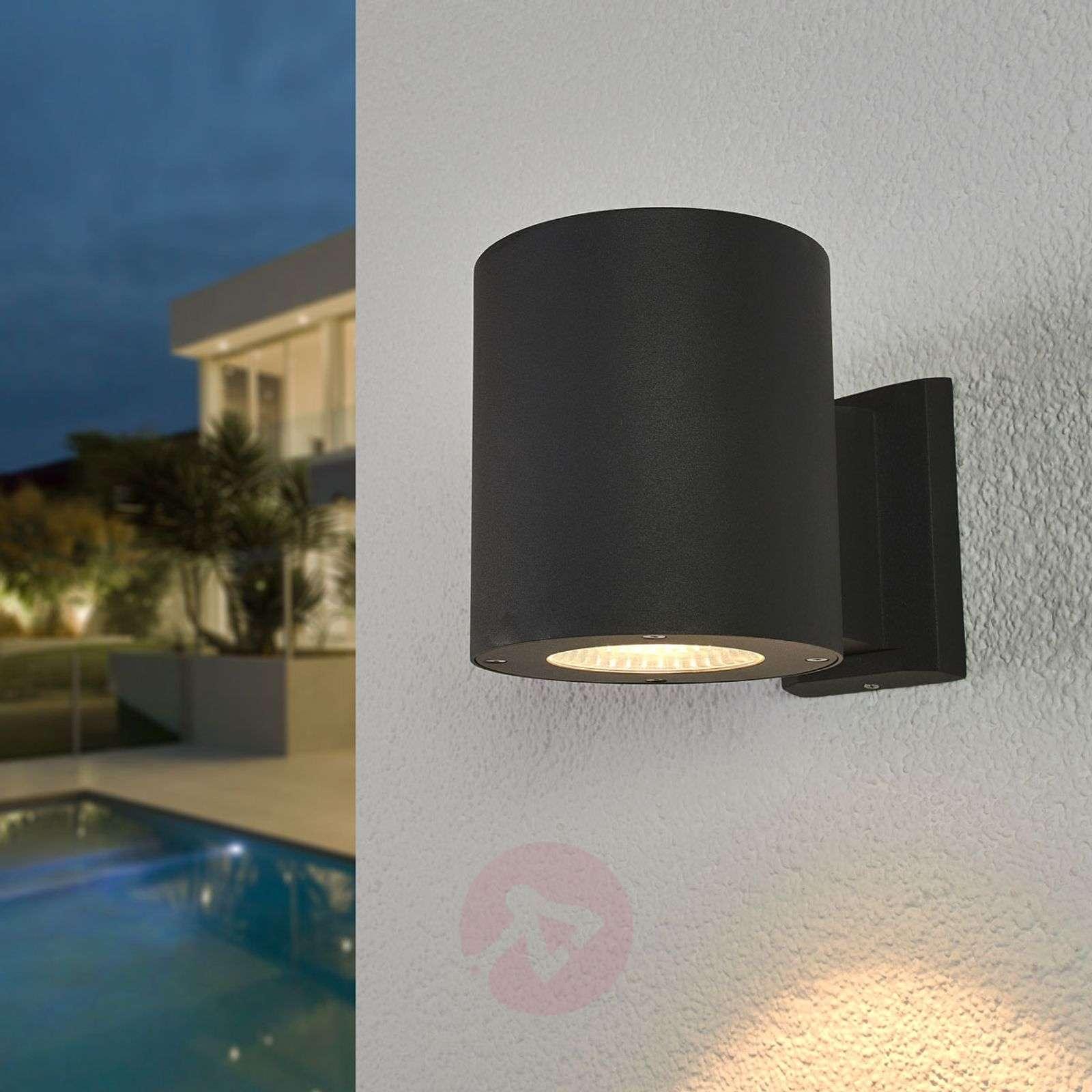 Tummanharmaa LED-ulkoseinävalaisin Tiago-9955052-03