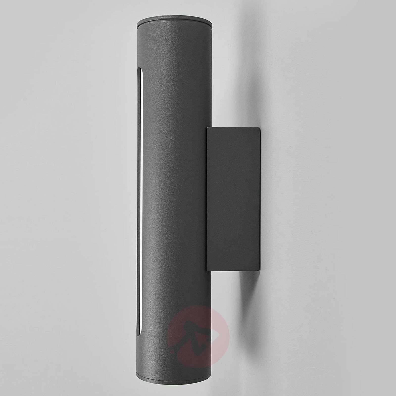 Tummanharmaa LED-ulkoseinävalaisin Tomas-9618125-02