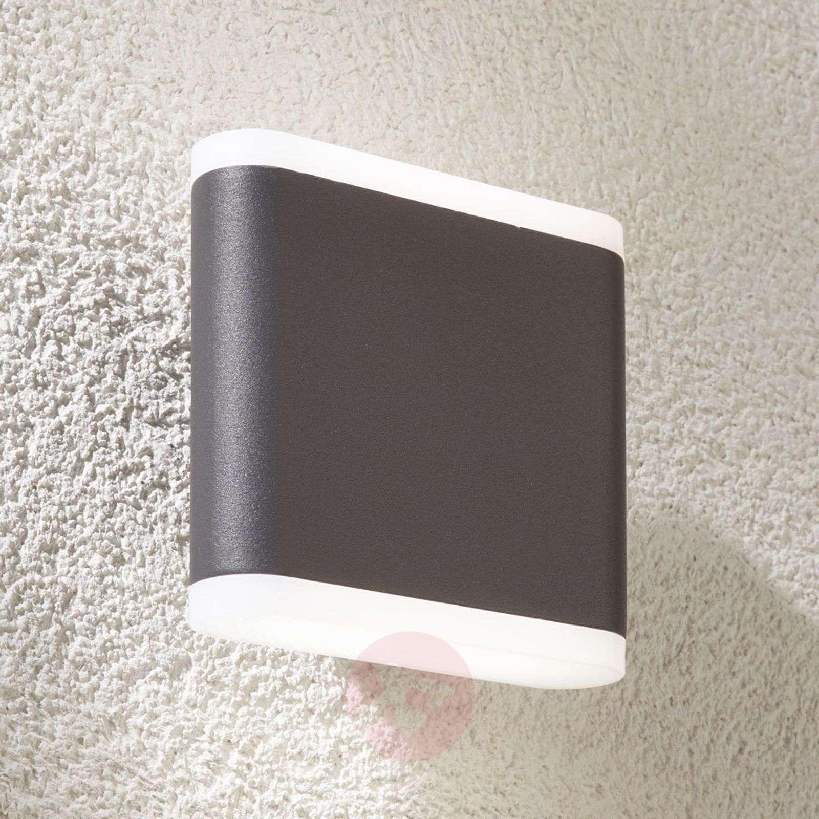 Tummanharmaa LED-ulkoseinävalaisin Vaiana-9955037-01
