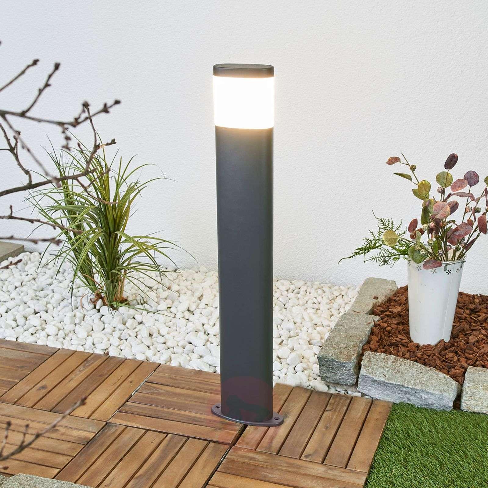 Tummanharmaa Marius-LED-pylväsvalaisin