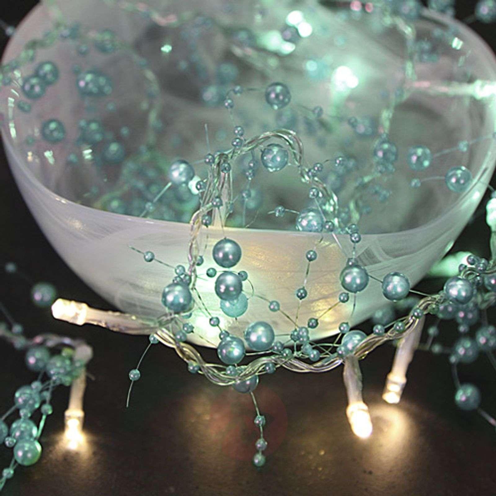 Turkoosinvärinen LED-valosarja Pärla Garland-1522666-02