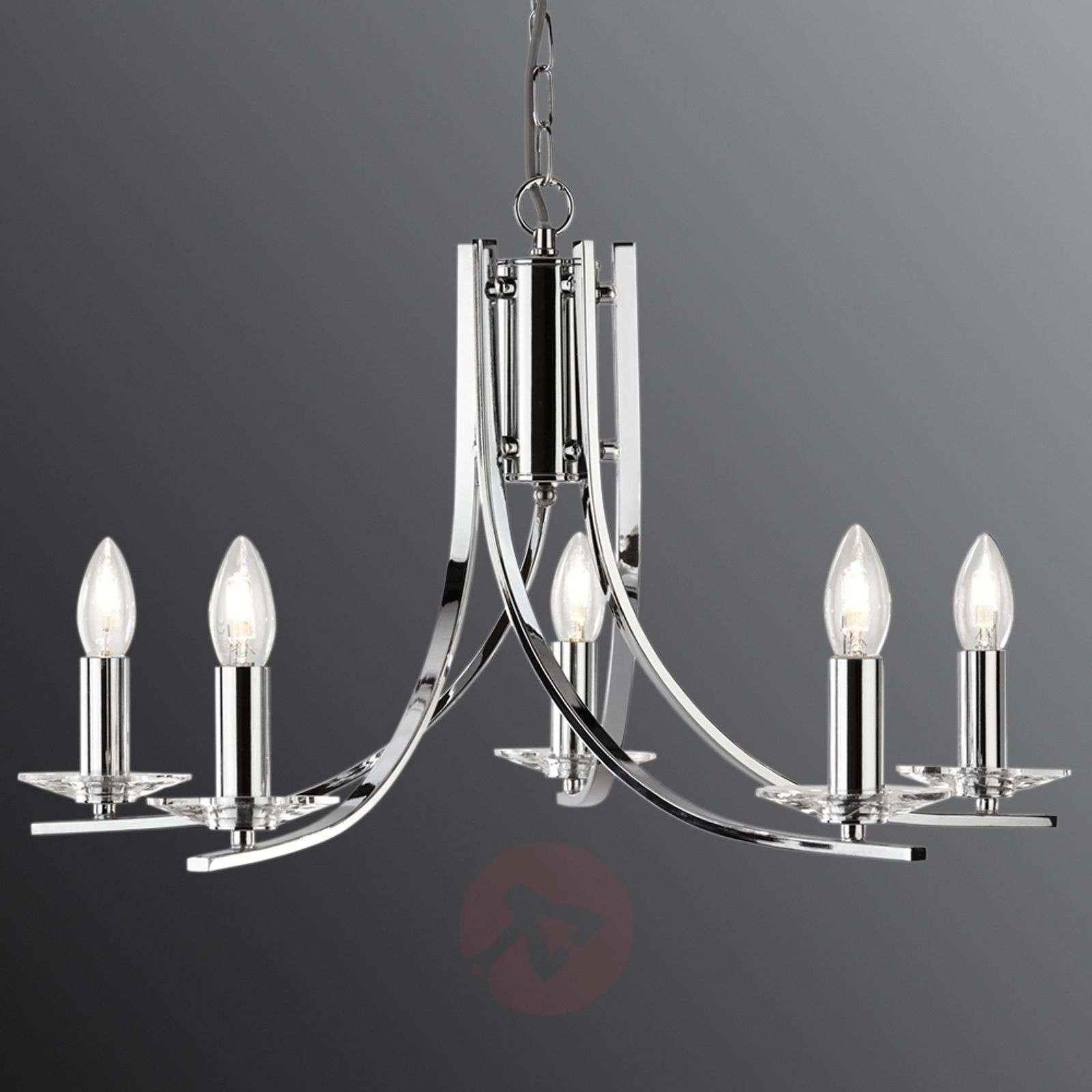 Tyylikäs 5-lamppuinen Ascona-riippuvalaisin-8570907-01