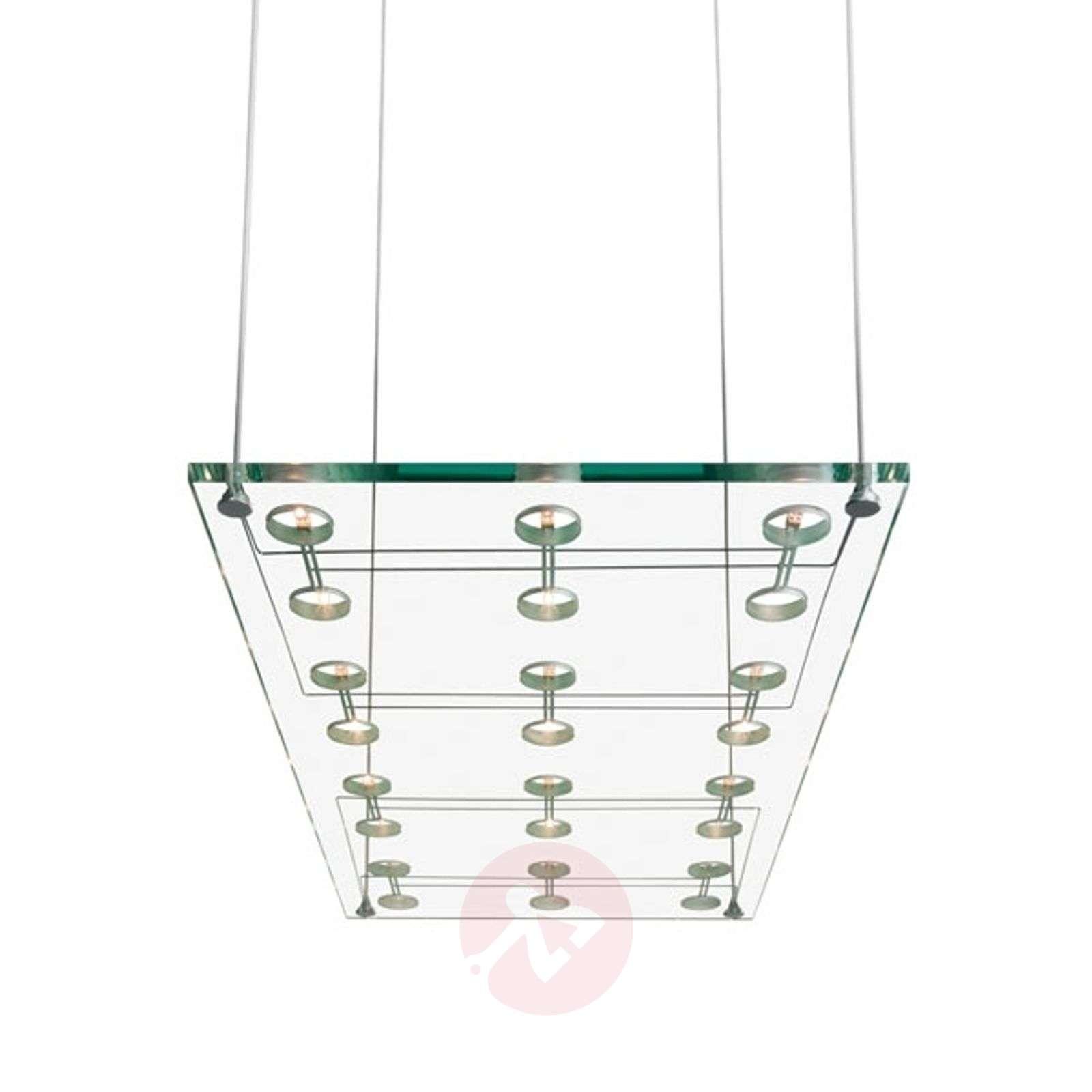 Tyylikäs design-riippuvalaisin SOSPESA, lasinen-3503048-01