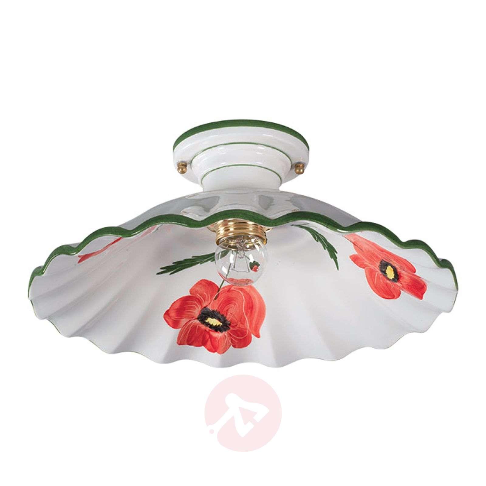 Tyylikäs keraaminen kattovalaisin Papaveri-3046001-01