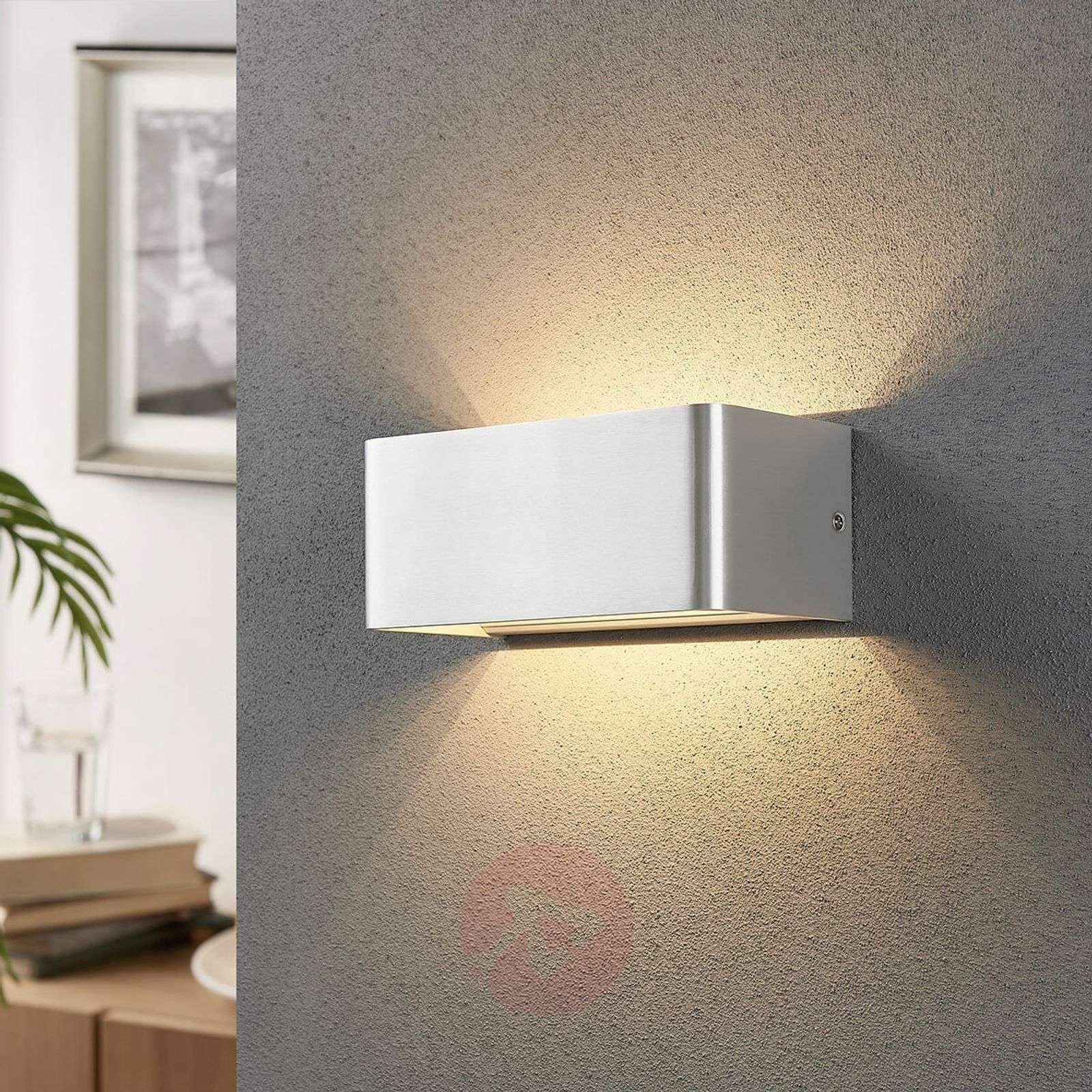 Tyylikäs LED-seinävalaisin Lonisa, satin. nikk.-9621192-02